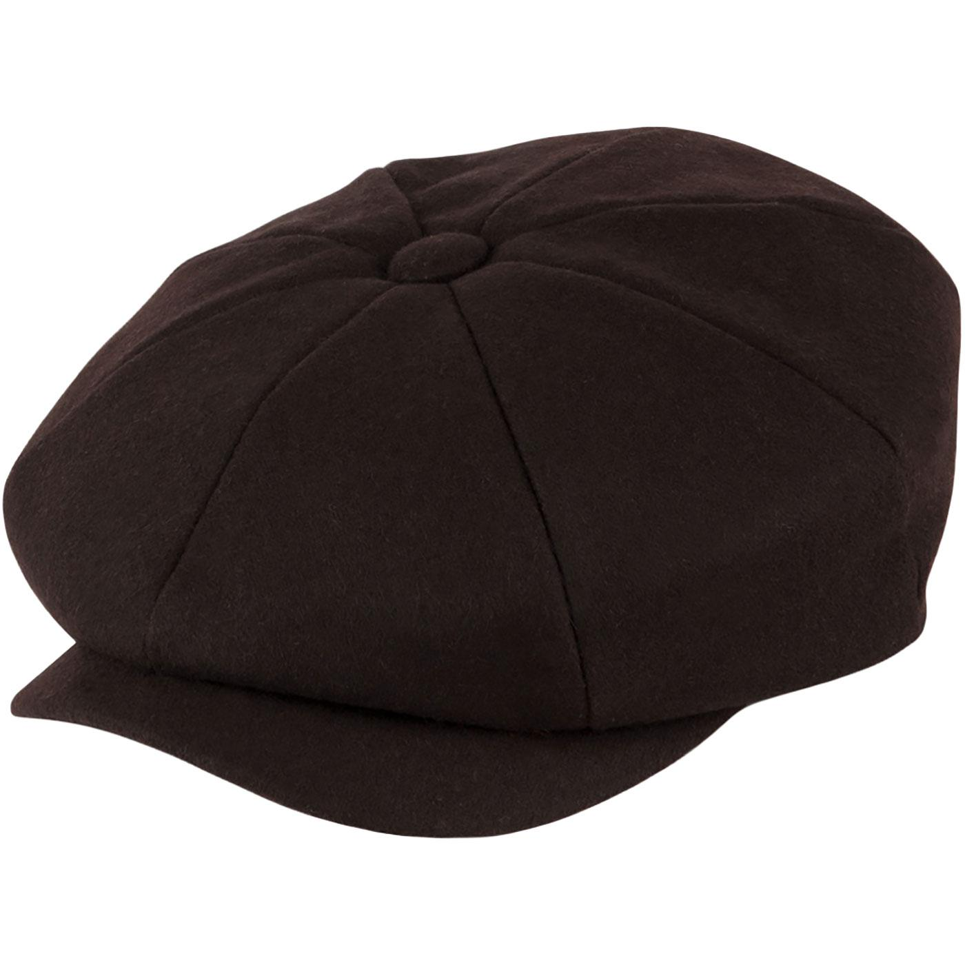Alfie FAILSWORTH Retro Melton 8 Panel Gatsby Hat