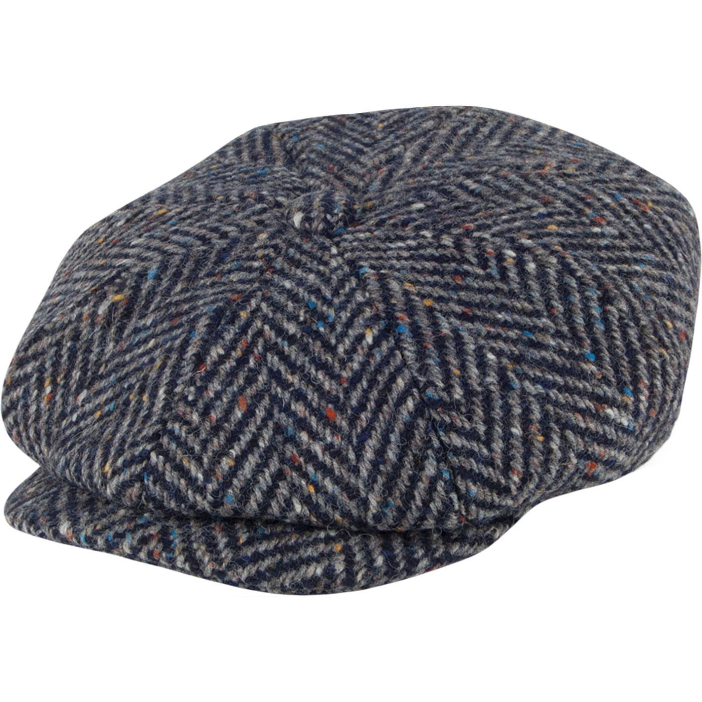 FAILSWORTH Donegal 8 Panel Magee Irish Tweed Cap