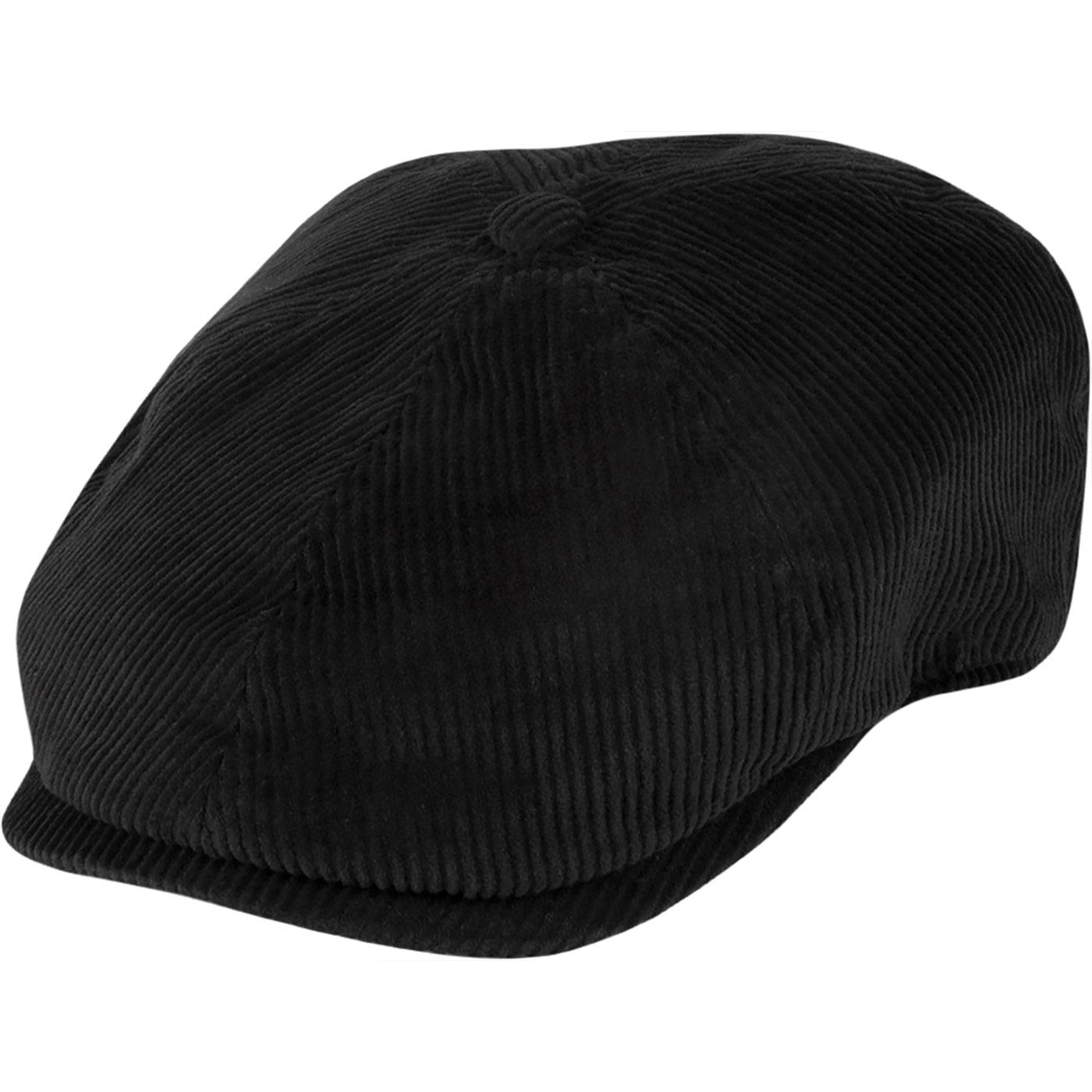 Hudson FAILSWORTH Retro Cord Spitfire Cap - BLACK