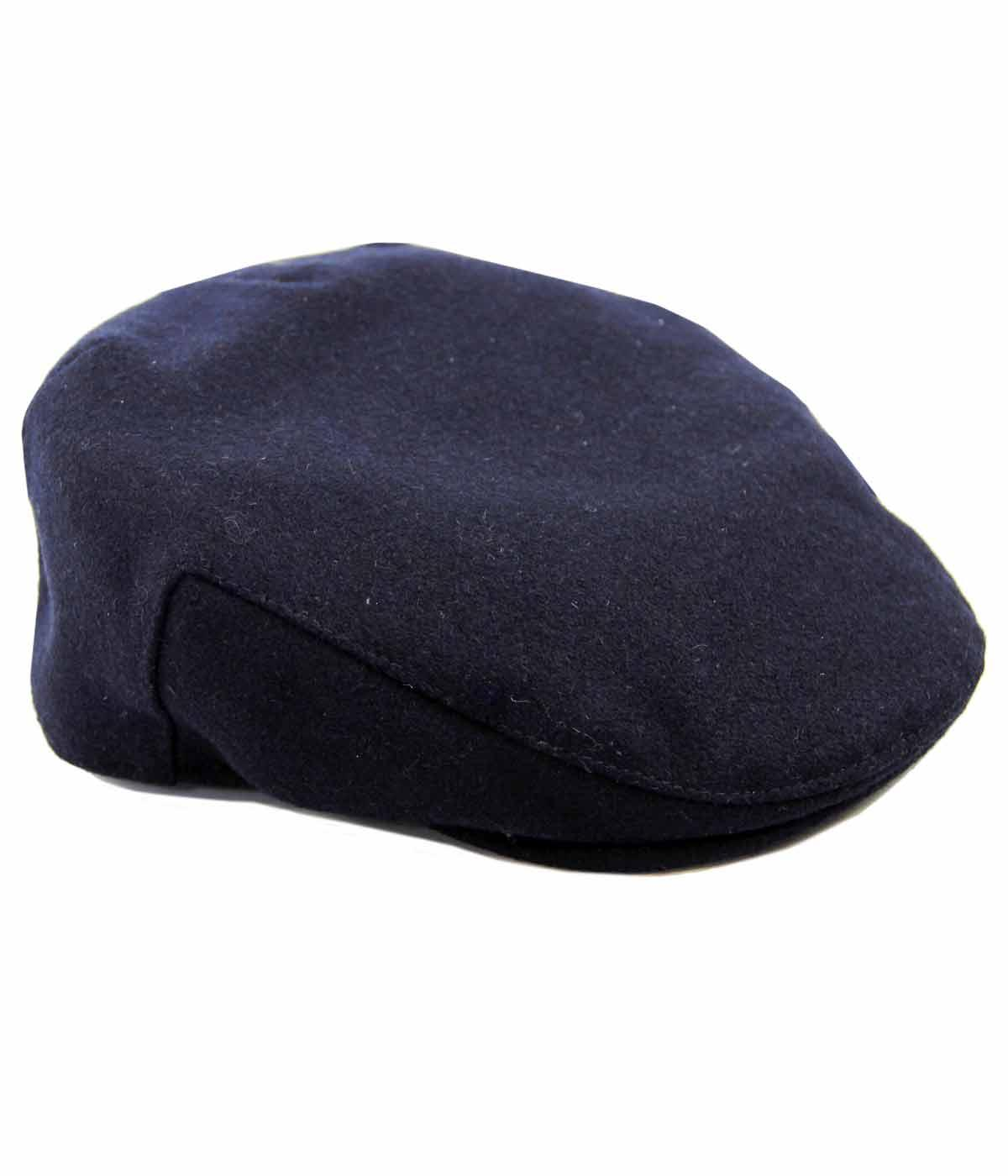 86cc1efe1 FAILSWORTH Melton Wool Retro Mod Flat Cap in Navy