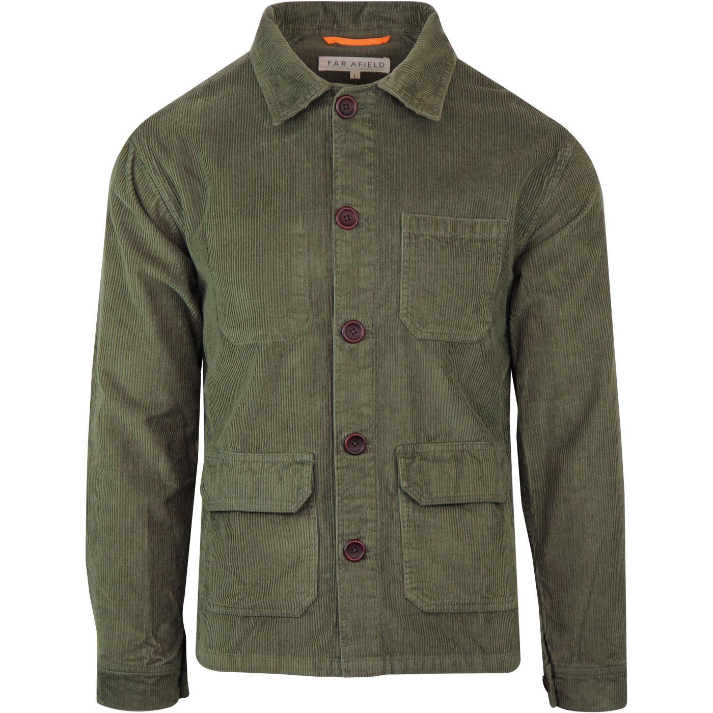 Porter FAR AFIELD Mod Cord Overshirt Jacket GREEN