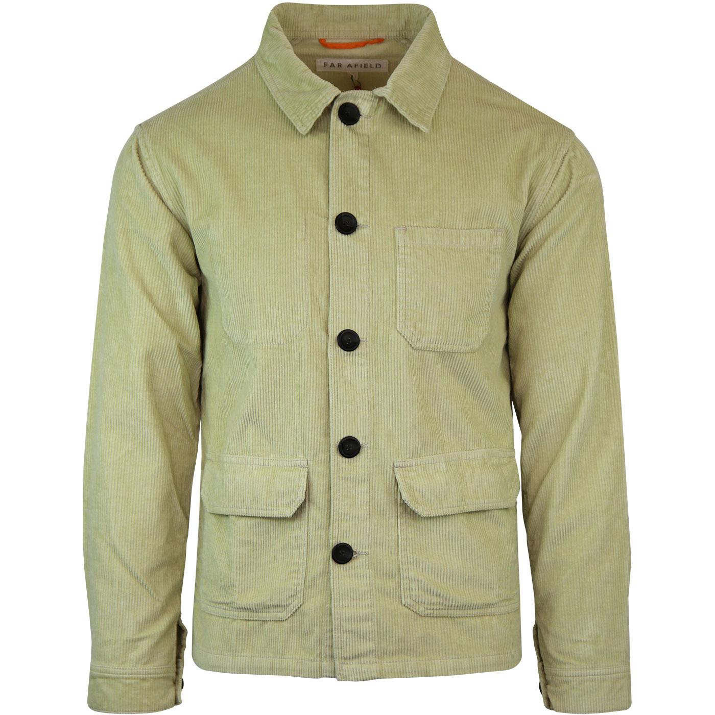 Porter FAR AFIELD Mod Cord Overshirt Jacket GRAVEL