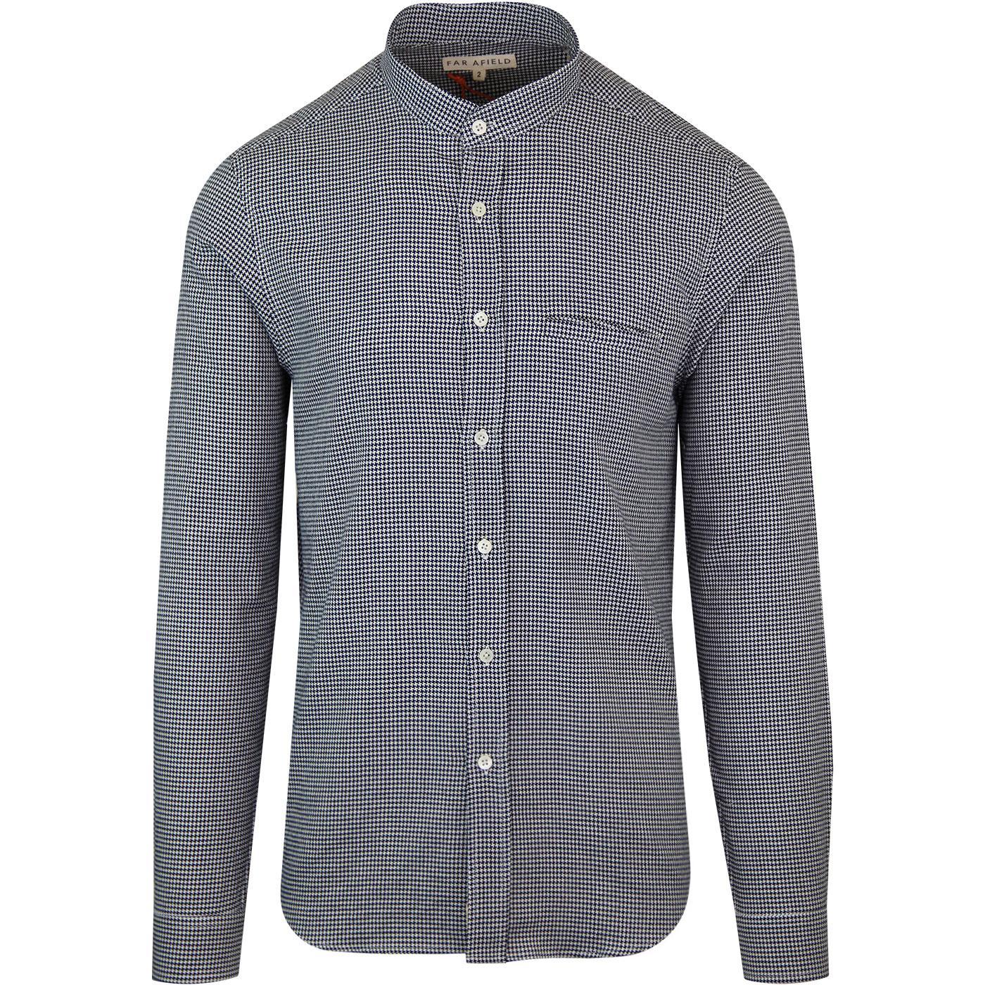 Twombly FAR AFIELD 60s Mod Dogtooth Granddad Shirt