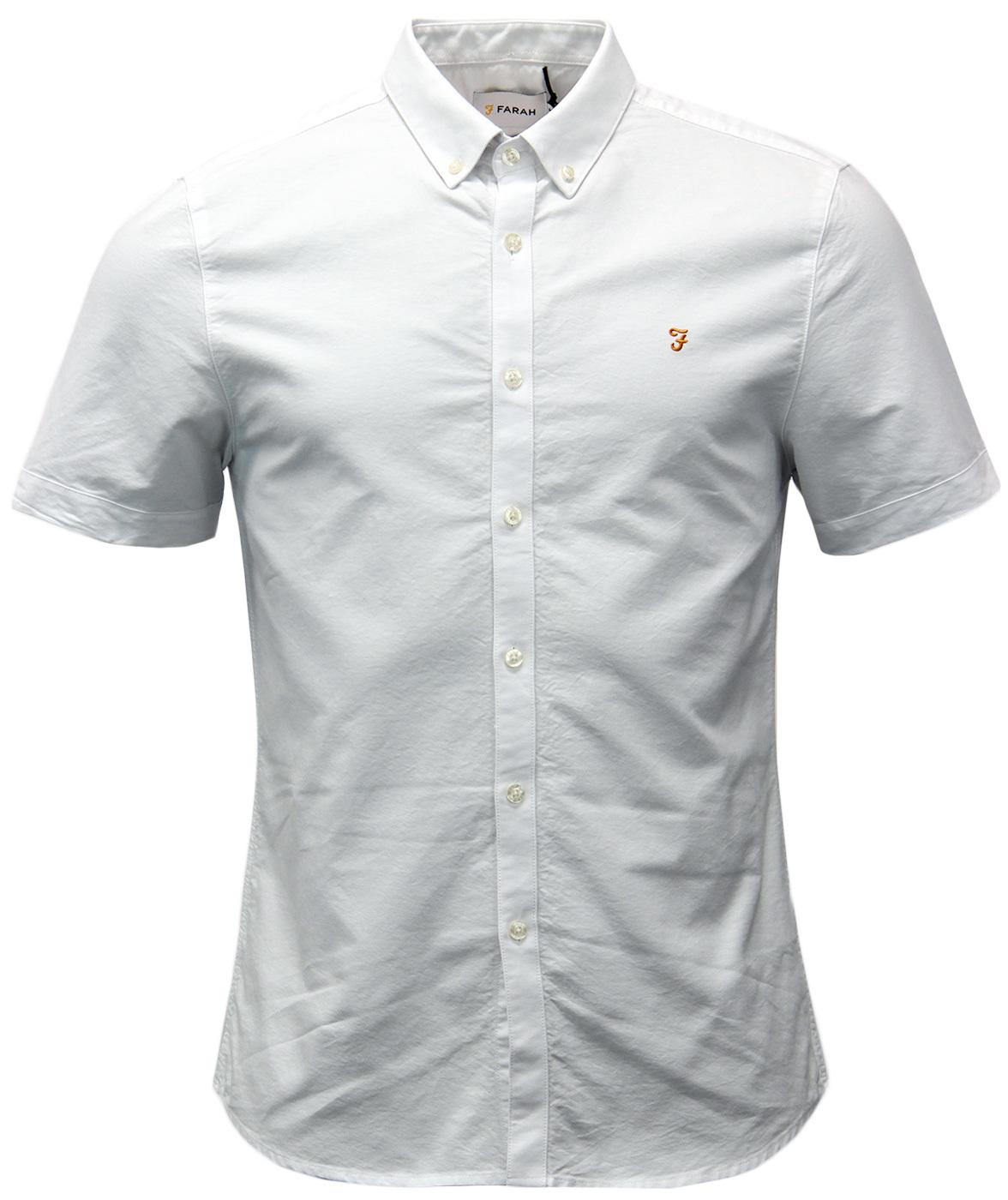 Brewer FARAH Retro 60s Short Sleeve Oxford Shirt