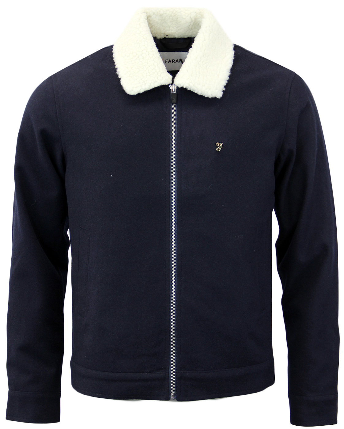 Otley FARAH Retro Mod Shearling Collar Jacket (N)