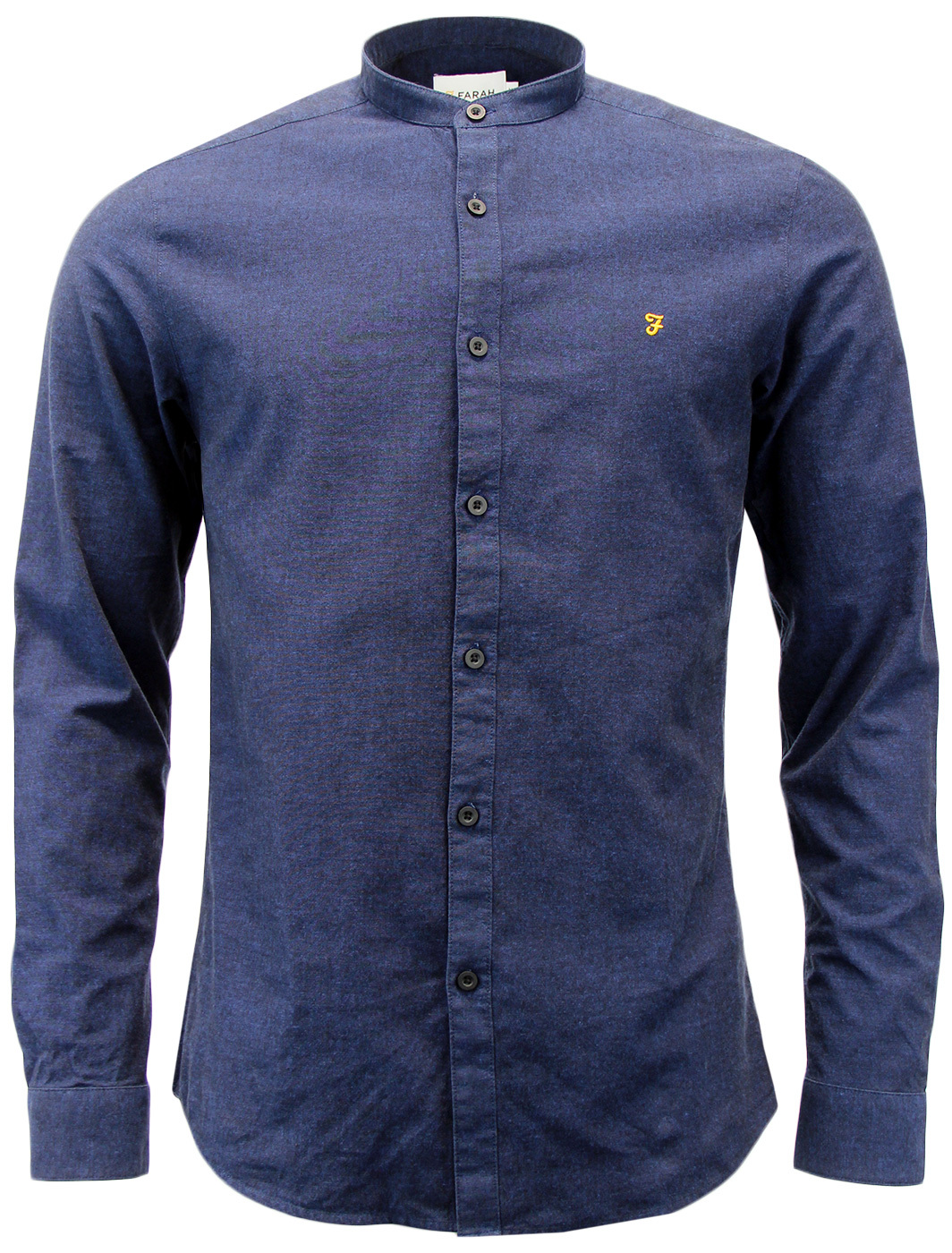 Steen FARAH Retro Mod Grandad Collar Oxford Shirt