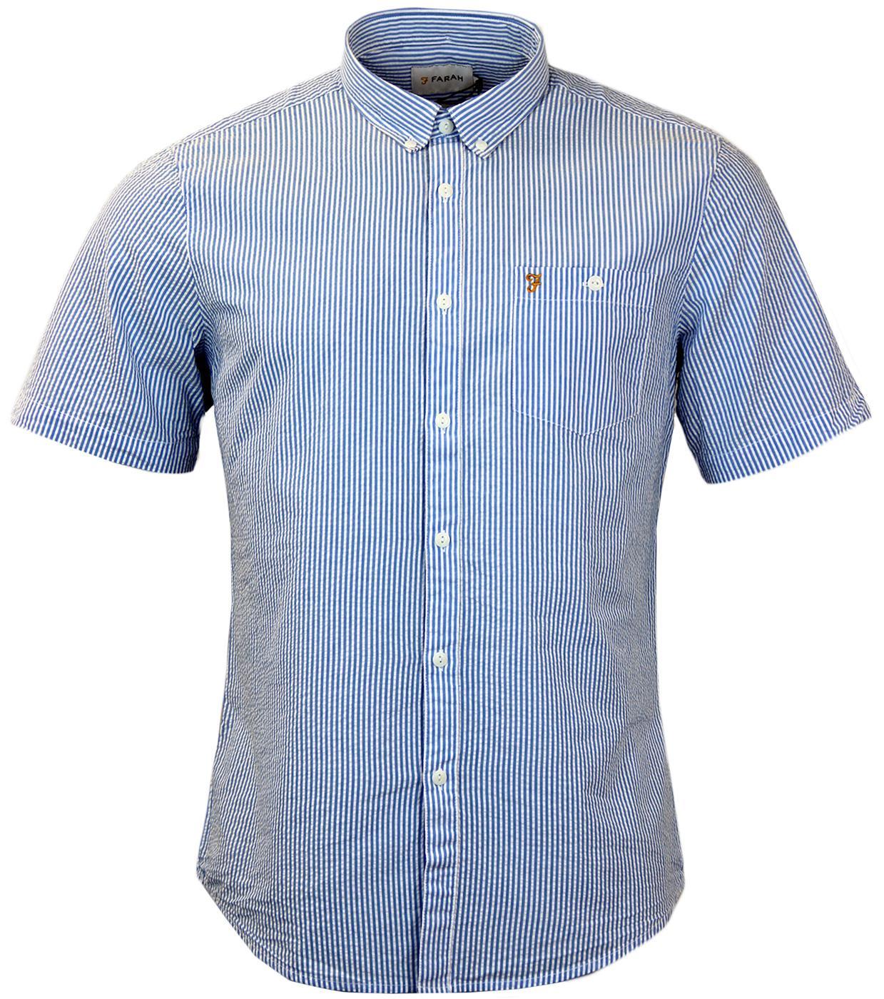 Sloane FARAH Retro Mod Button Down Stripe Shirt