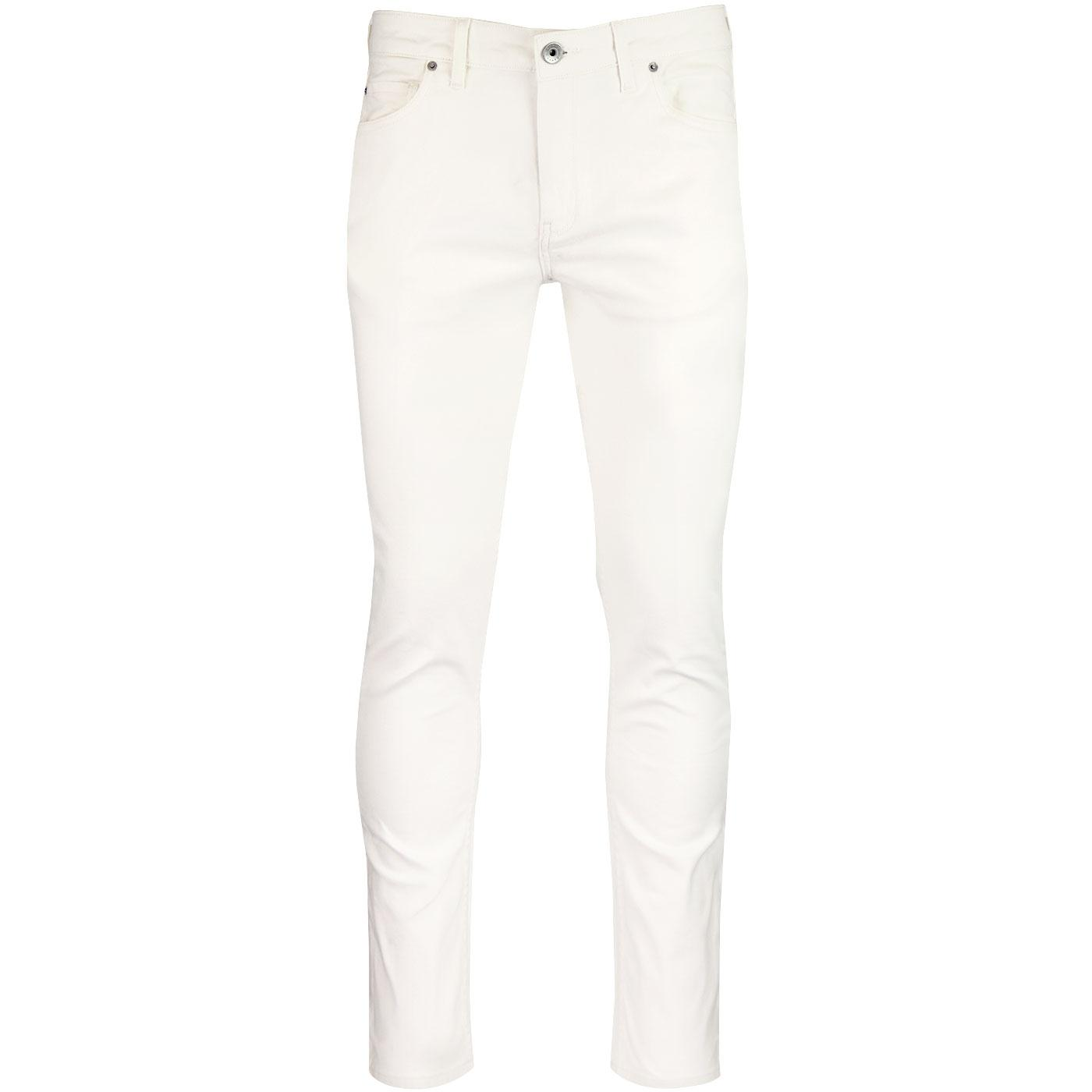 Drake FARAH Retro Mod Slim Twill Trousers (Ecru)