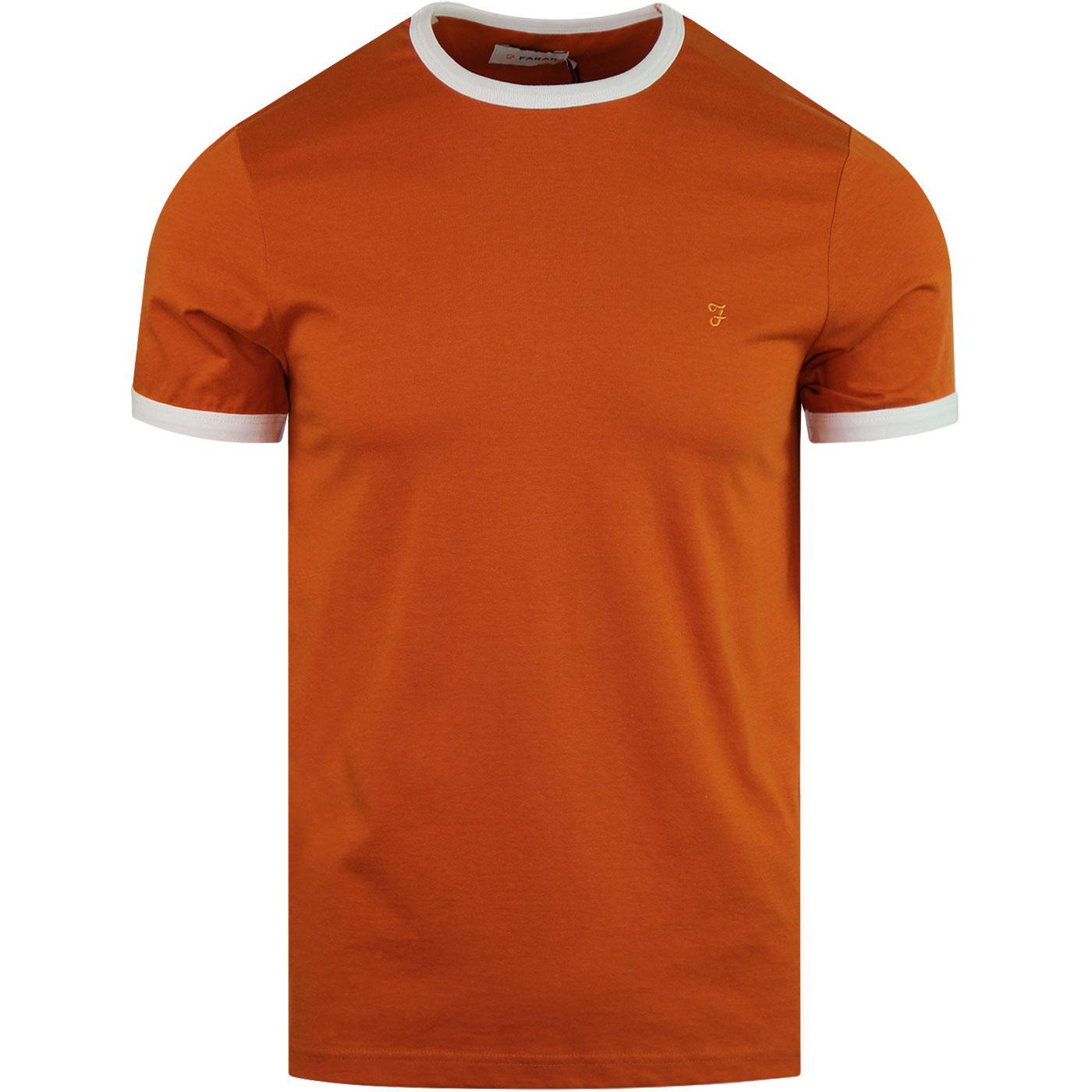 Groves FARAH Retro Mod Ringer T-Shirt (Goldfish)