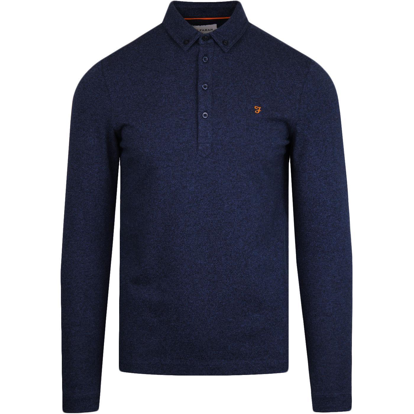 Merriweather FARAH Mod L/S Pique Polo Shirt (NBM)