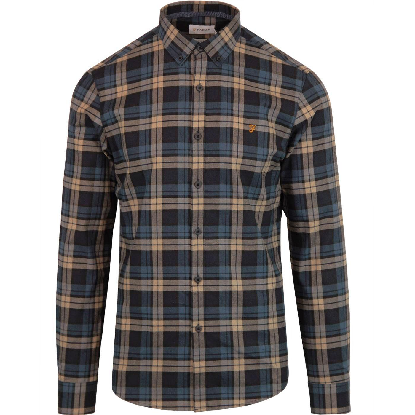 Radley FARAH Mod Button Down Check Shirt - Canvas