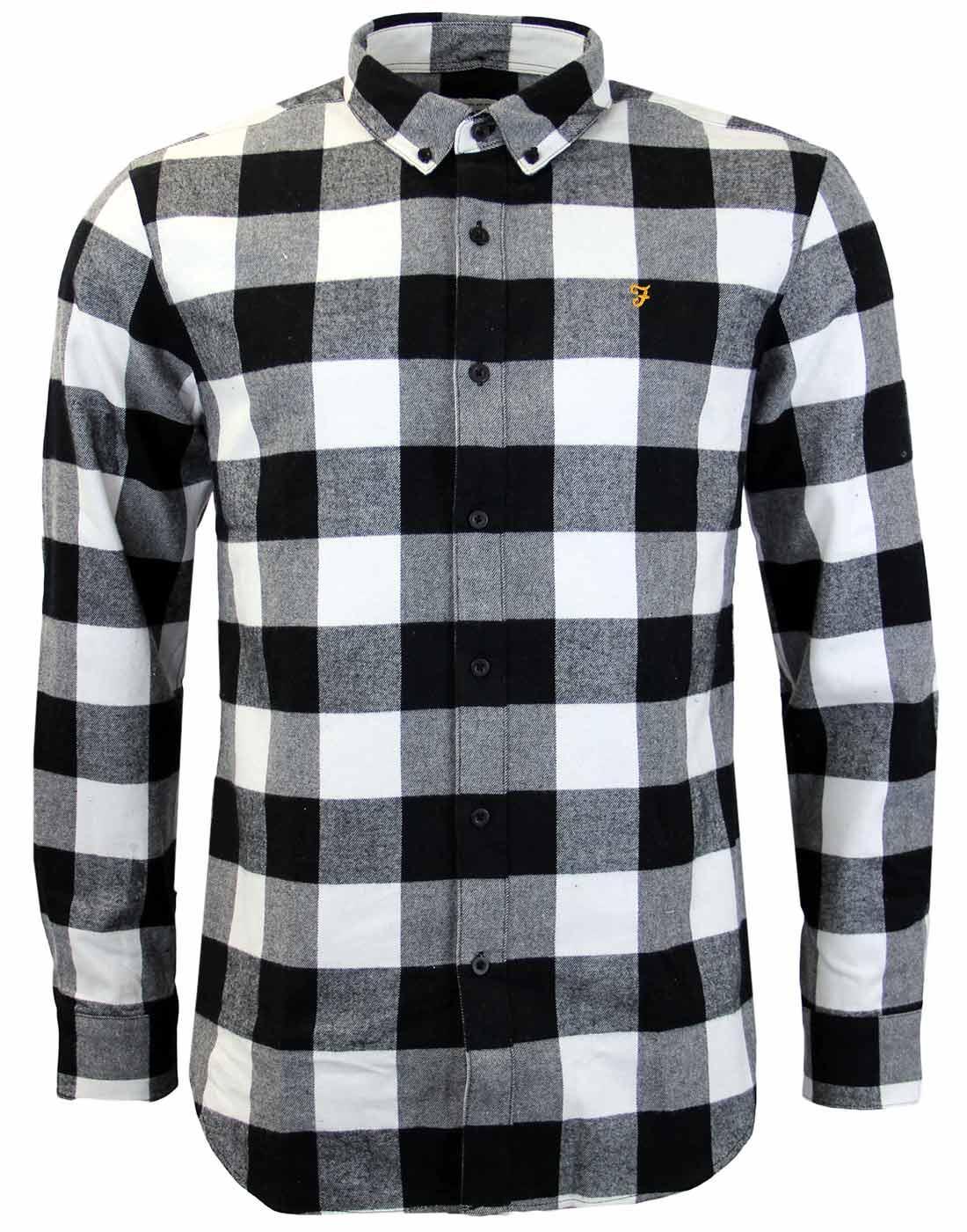 Irthing FARAH Mod Block Check Brushed Cotton Shirt