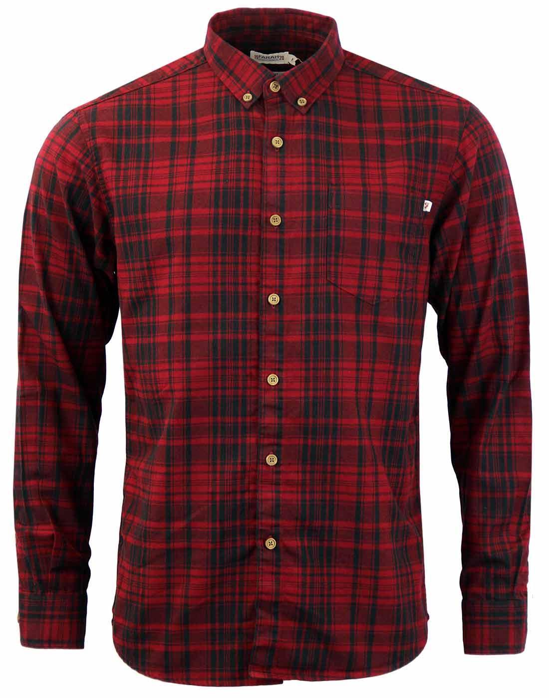 Paine FARAH 1920 Retro Brushed Cotton Check Shirt