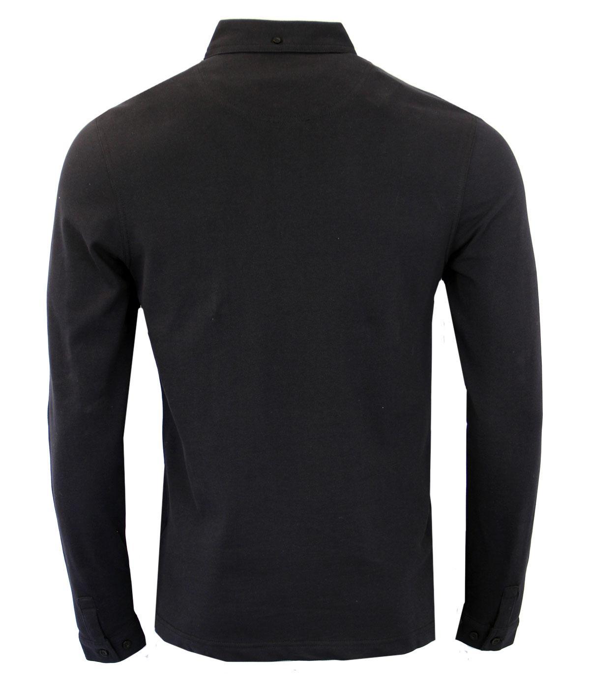 0b11165dbf Farah Vintage Merriweather Polo Shirt Black – EDGE Engineering and ...