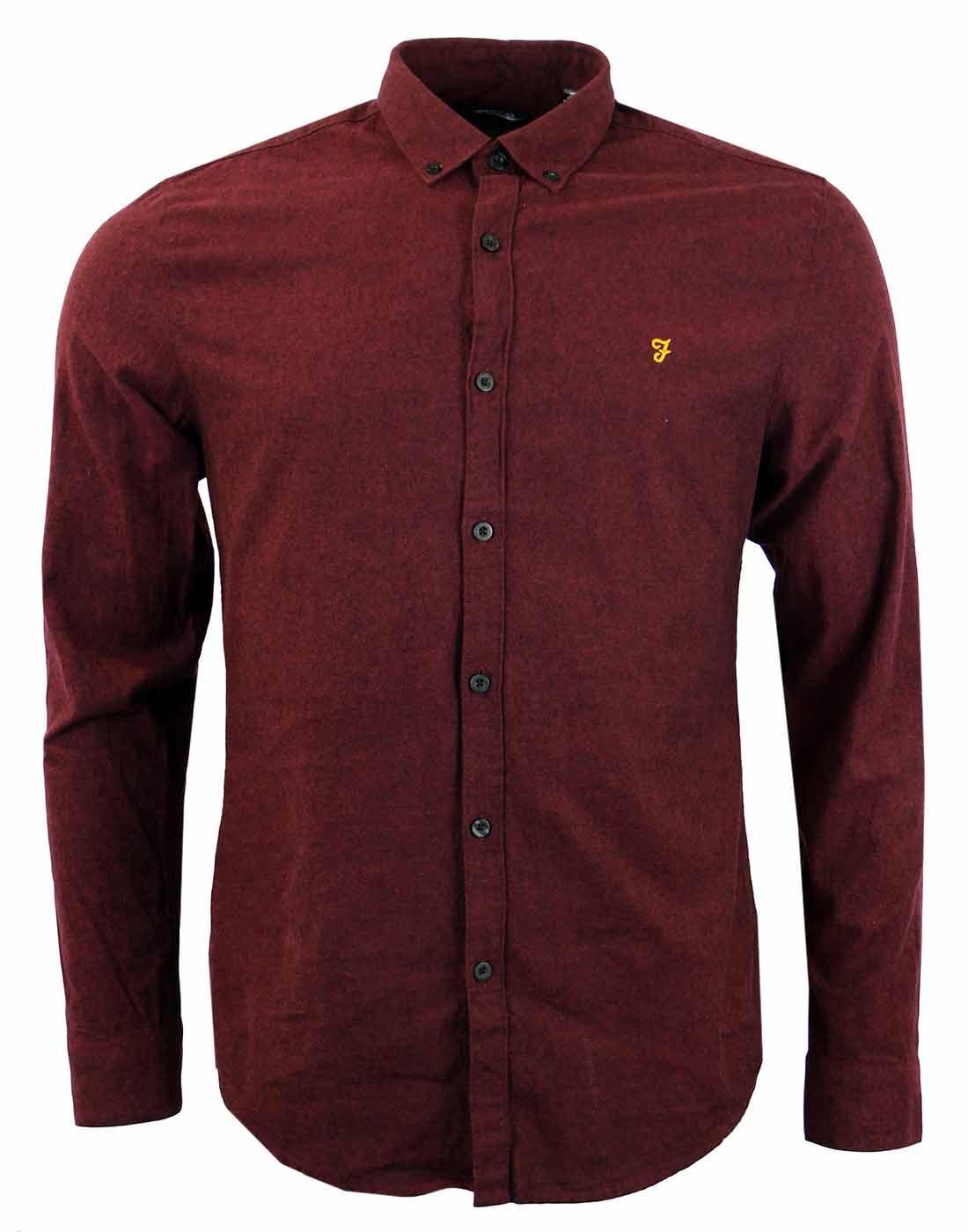 Steen FARAH VINTAGE Mod Button Down Oxford Shirt