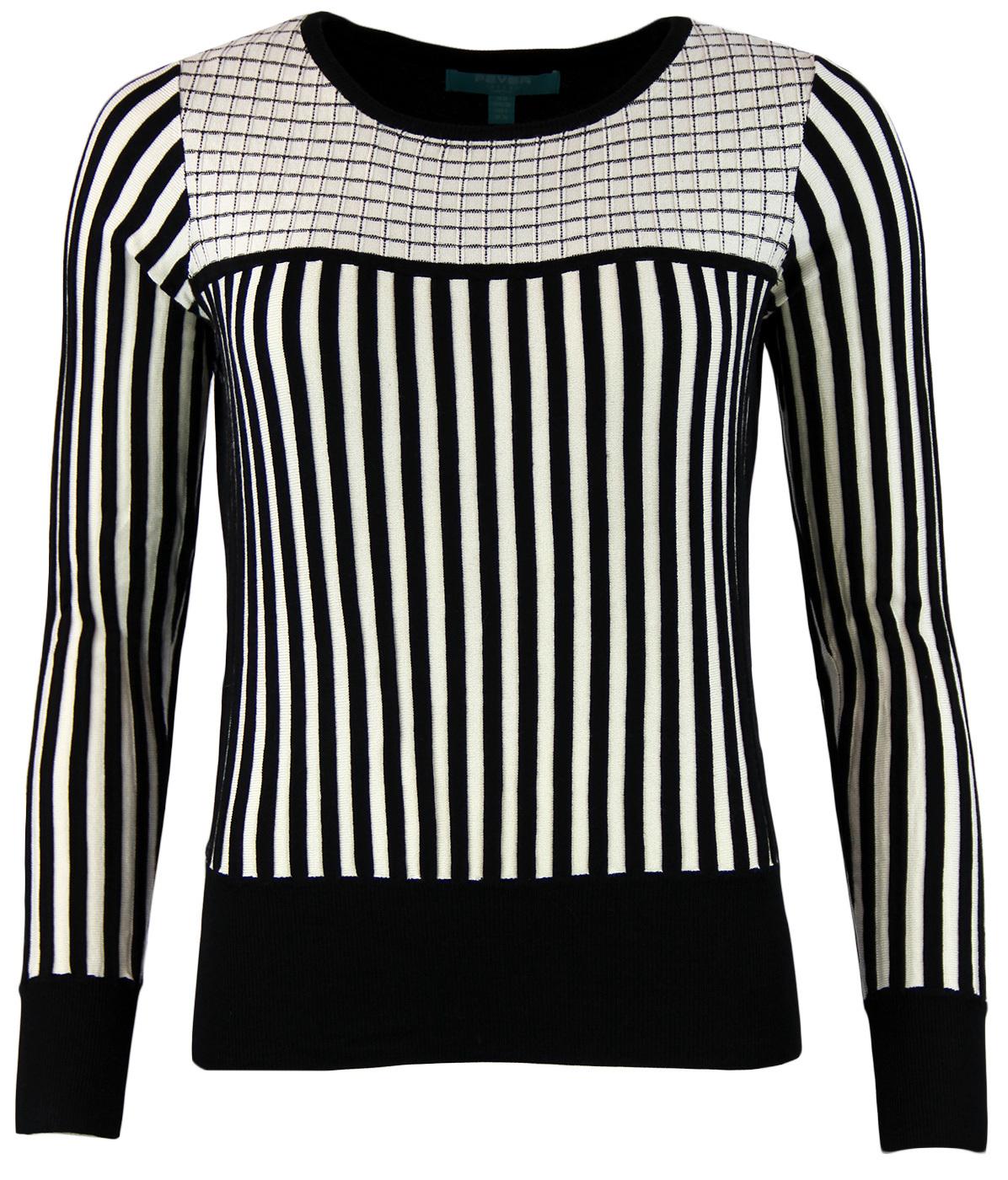 Lewes FEVER Retro Vintage Womens Stripe Sweater