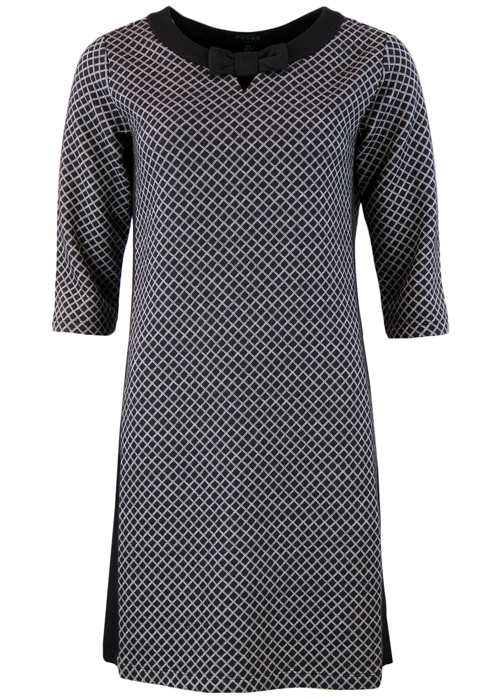 Lori FEVER Retro 1960s Mod Square Geo Bow Dress