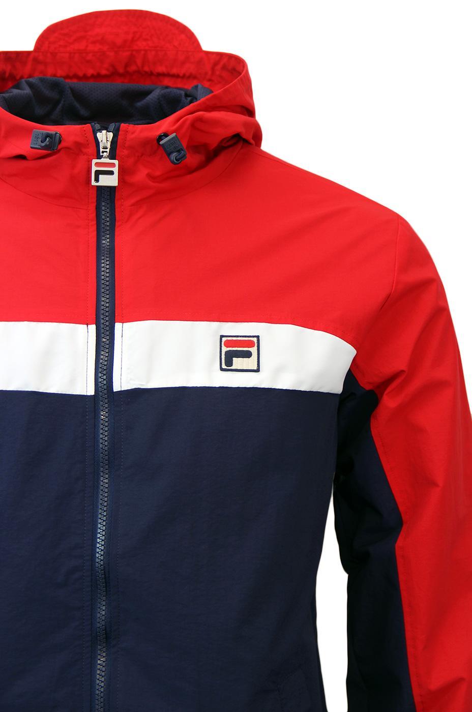 Clipper FILA VINTAGE Retro 70s Chest Stripe Jacket