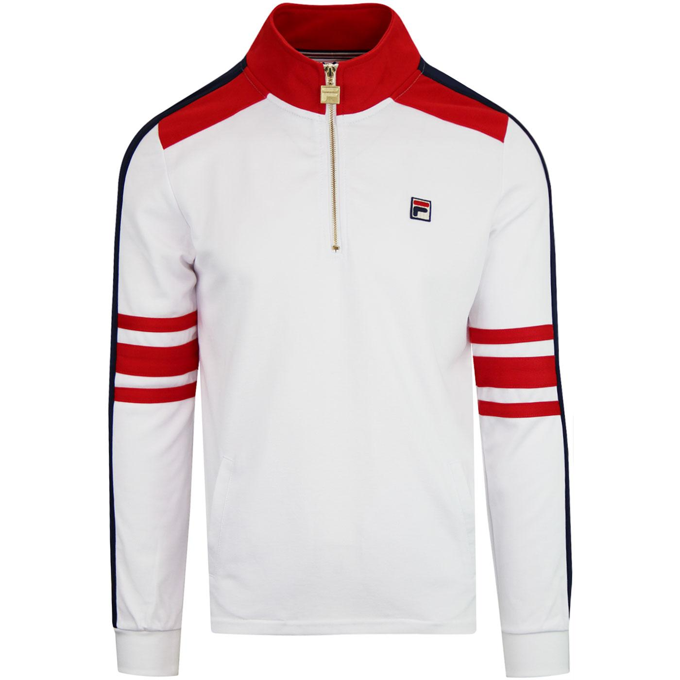 Alastair FILA VINTAGE Retro 80s Half Zip Track Top