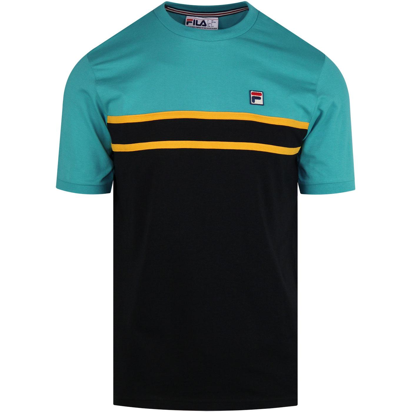 Baldi FILA VINTAGE Colour Panel Tee BISCAY BAY