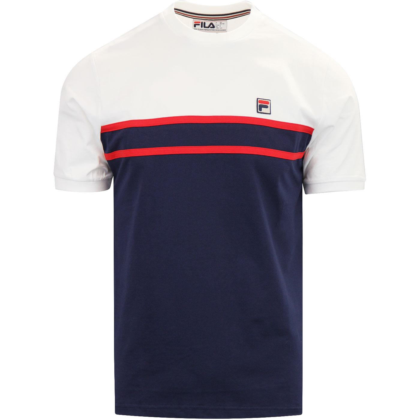 Baldi FILA VINTAGE Retro 80s Colour Panel Tee (P)