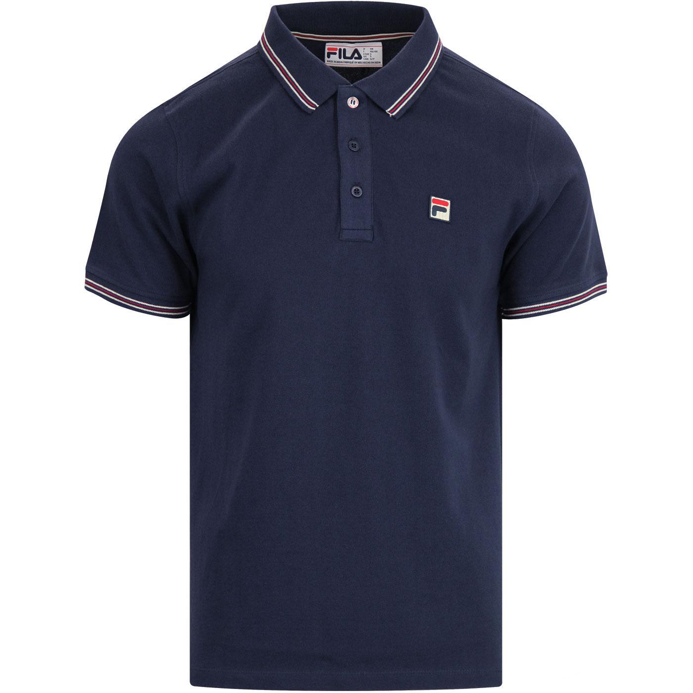 Matcho 4 FILA VINTAGE Retro 80s Pique Polo Shirt P