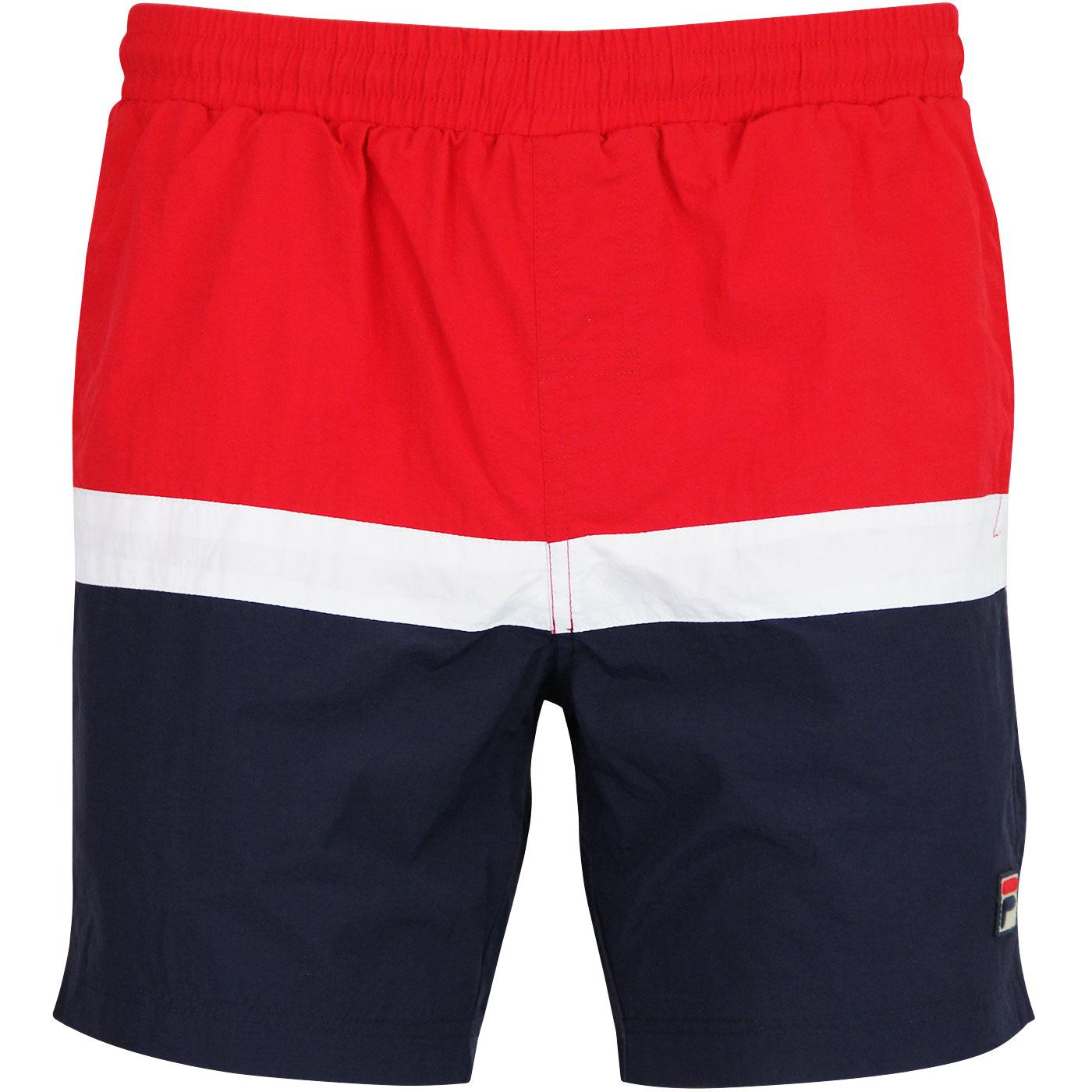 Peter FILA VINTAGE Colour Block Swim Shorts RED