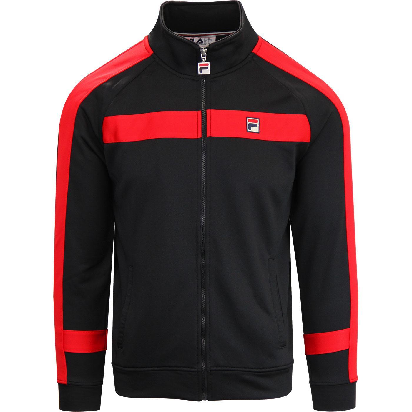 Renzo FILA VINTAGE Panel Track Jacket RED/BLACK