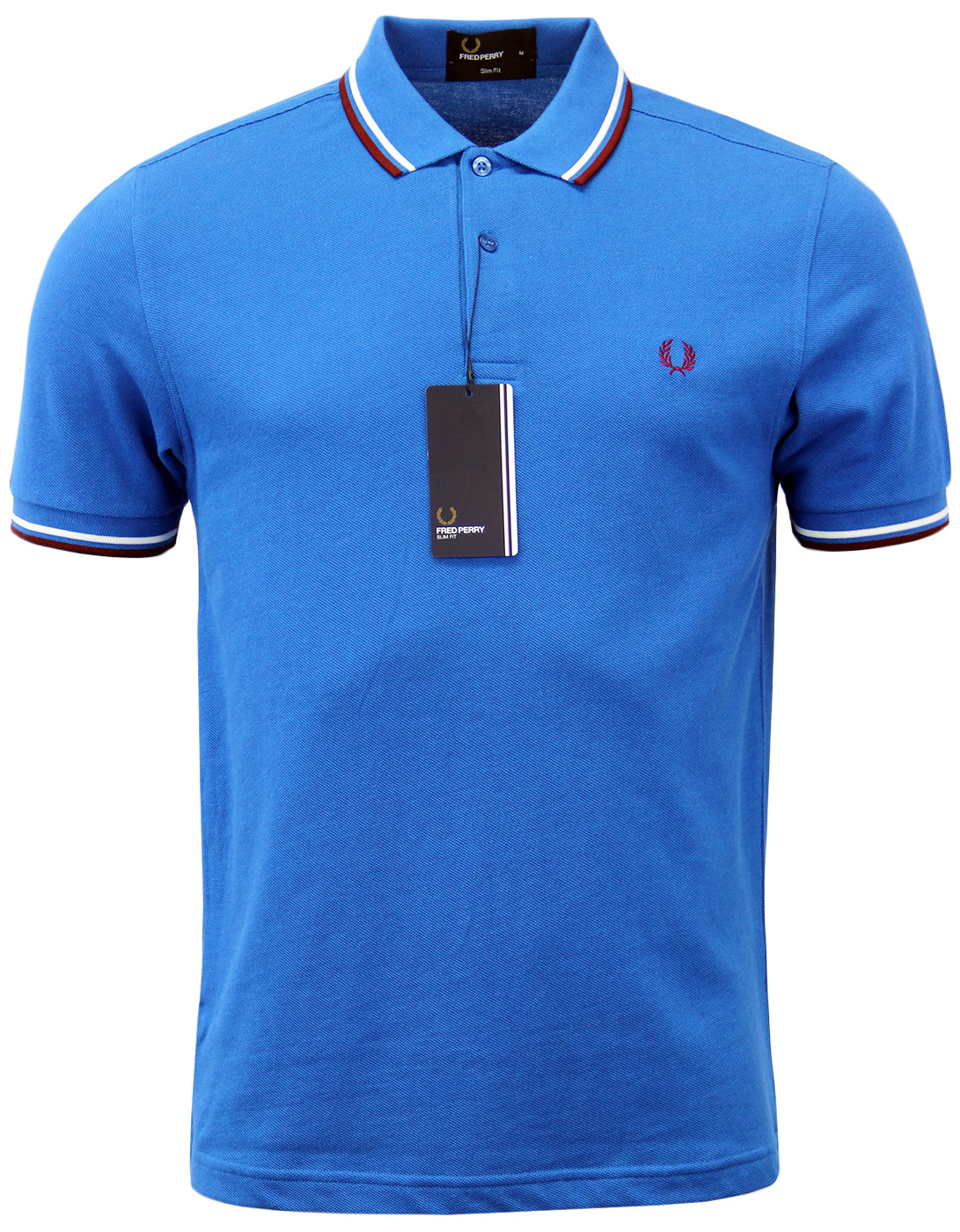 FRED PERRY M3600 Mod Twin Tipped Polo Shirt BLUE