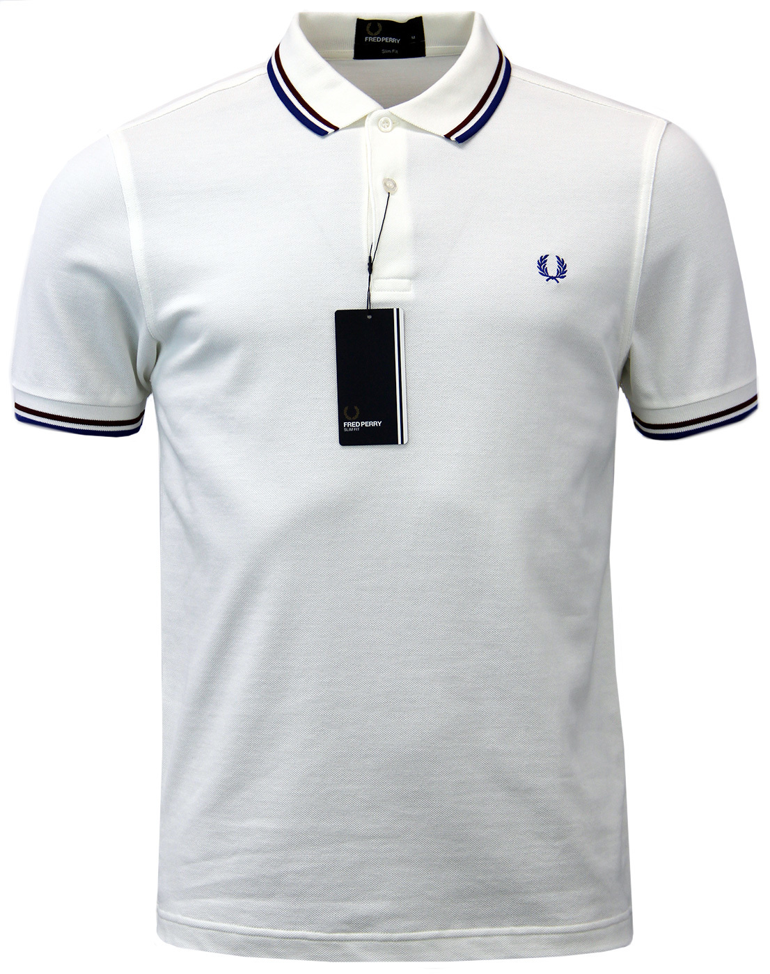 FRED PERRY M3600 Mod Twin Tipped Polo Shirt - Snow