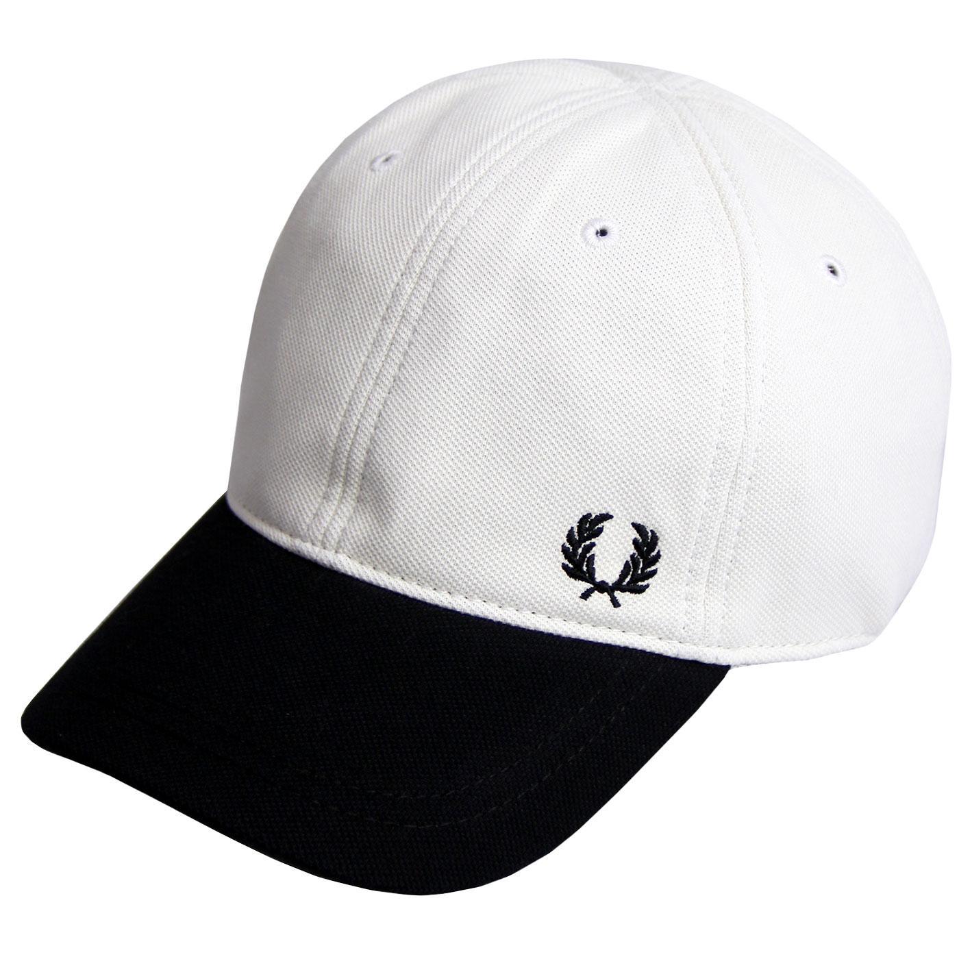 FRED PERRY Men's Block Colour Pique Baseball Cap