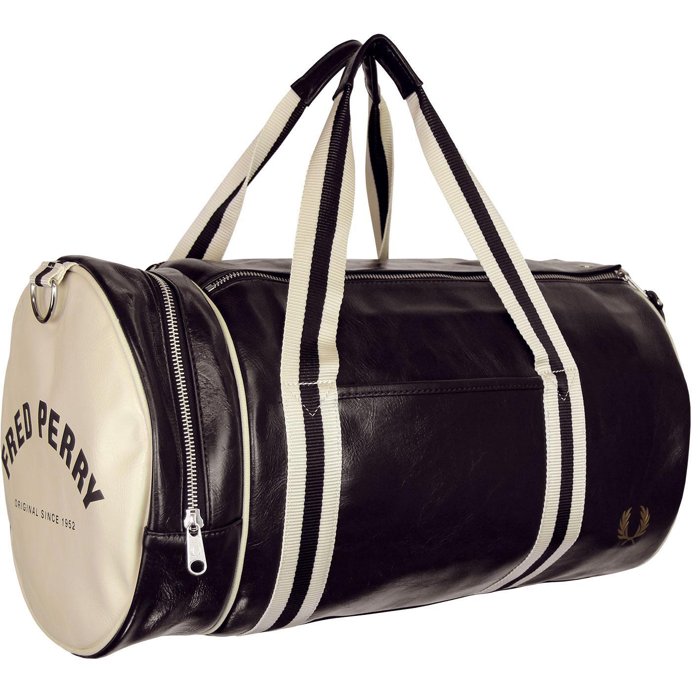 FRED PERRY Retro Classic Barrel Bag - Black