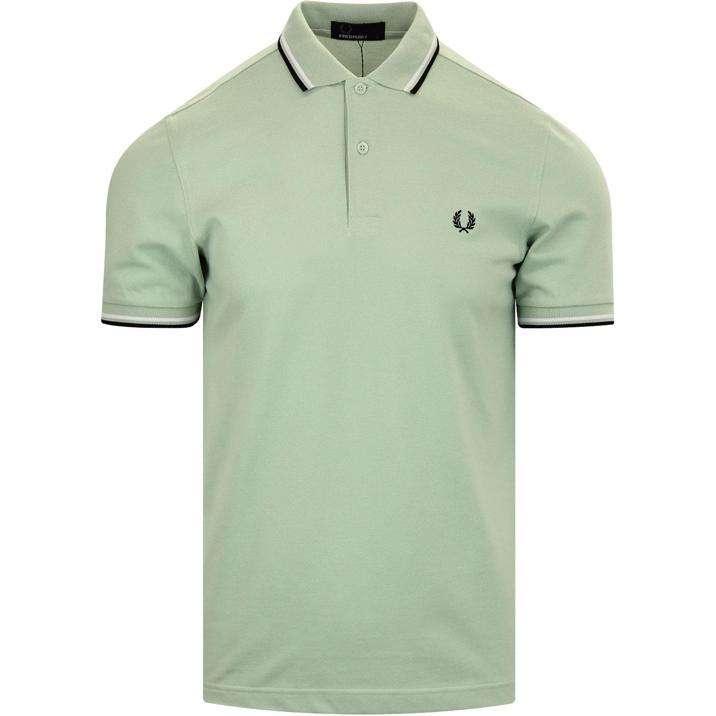 FRED PERRY M3600 Twin Tipped Mod Polo Shirt MINT