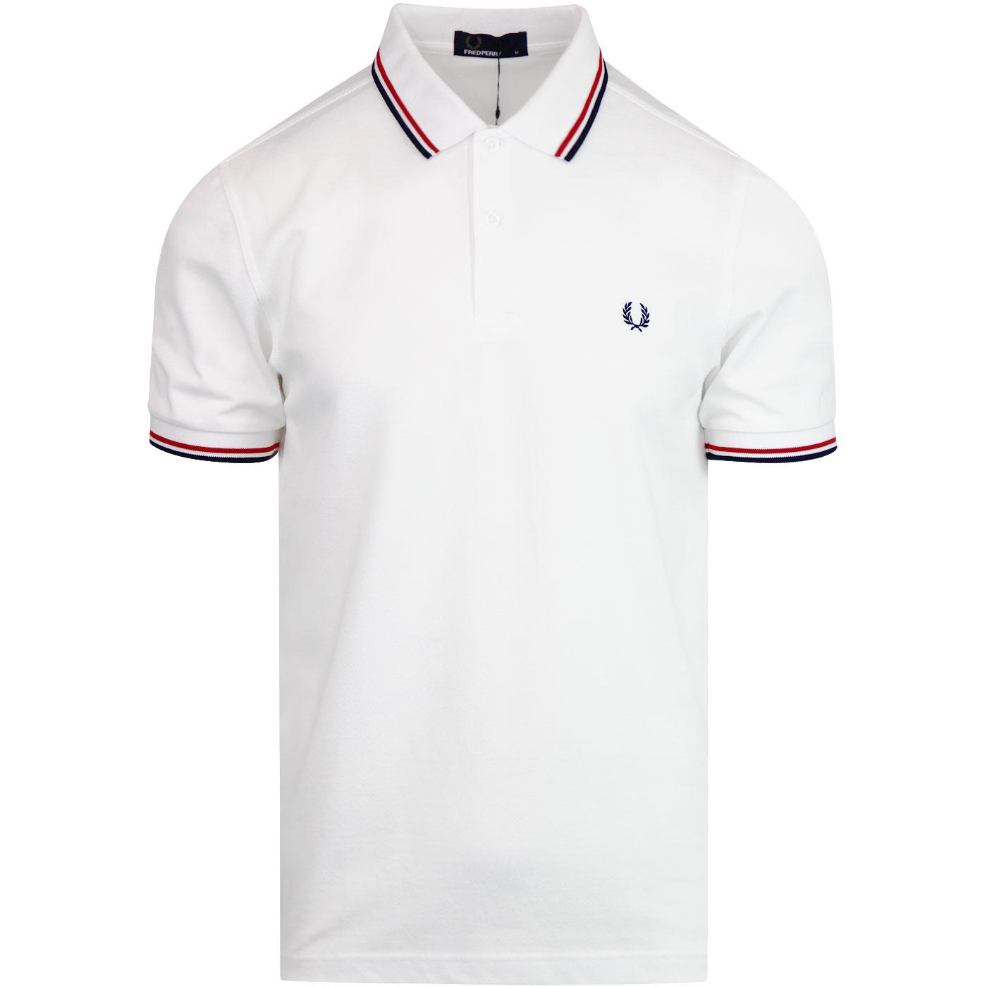FRED PERRY M3600 Mod Twin Tipped Polo Shirt W/R/N