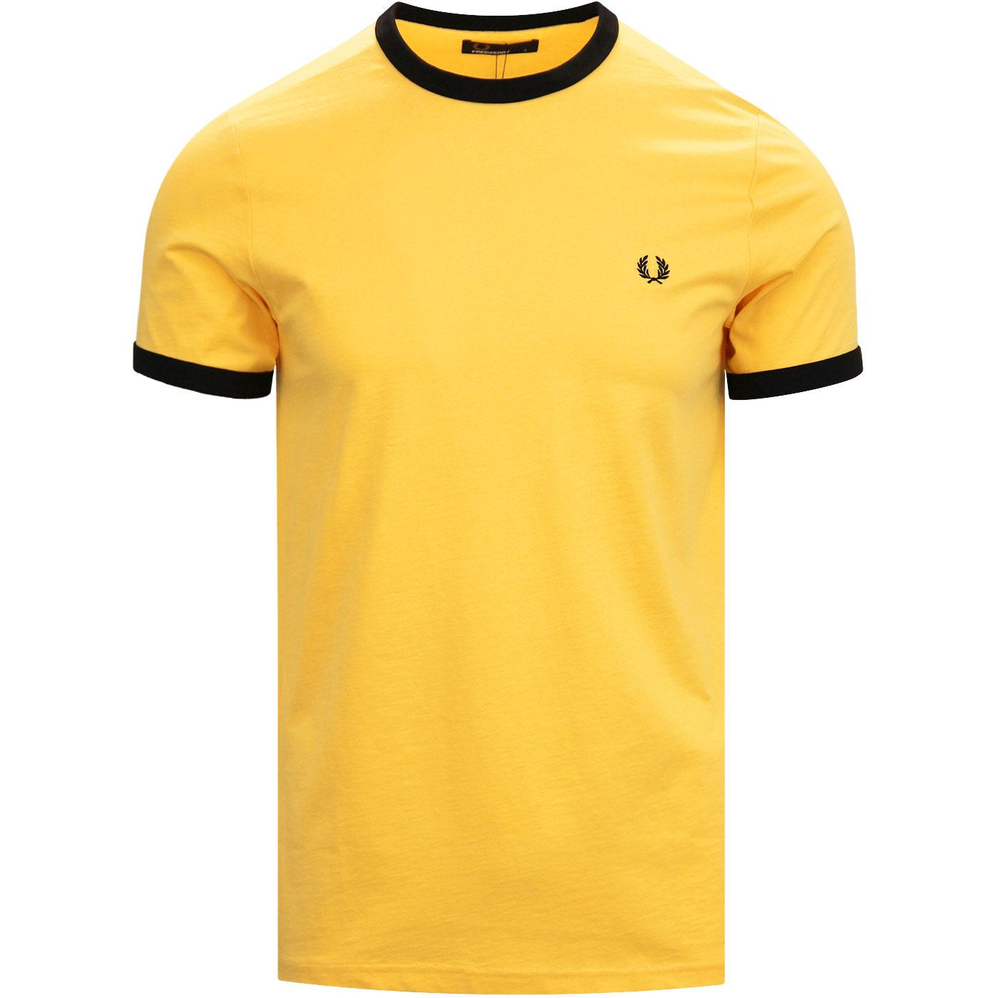 FRED PERRY Men's Mod Retro Crew Ringer Tee (EY)