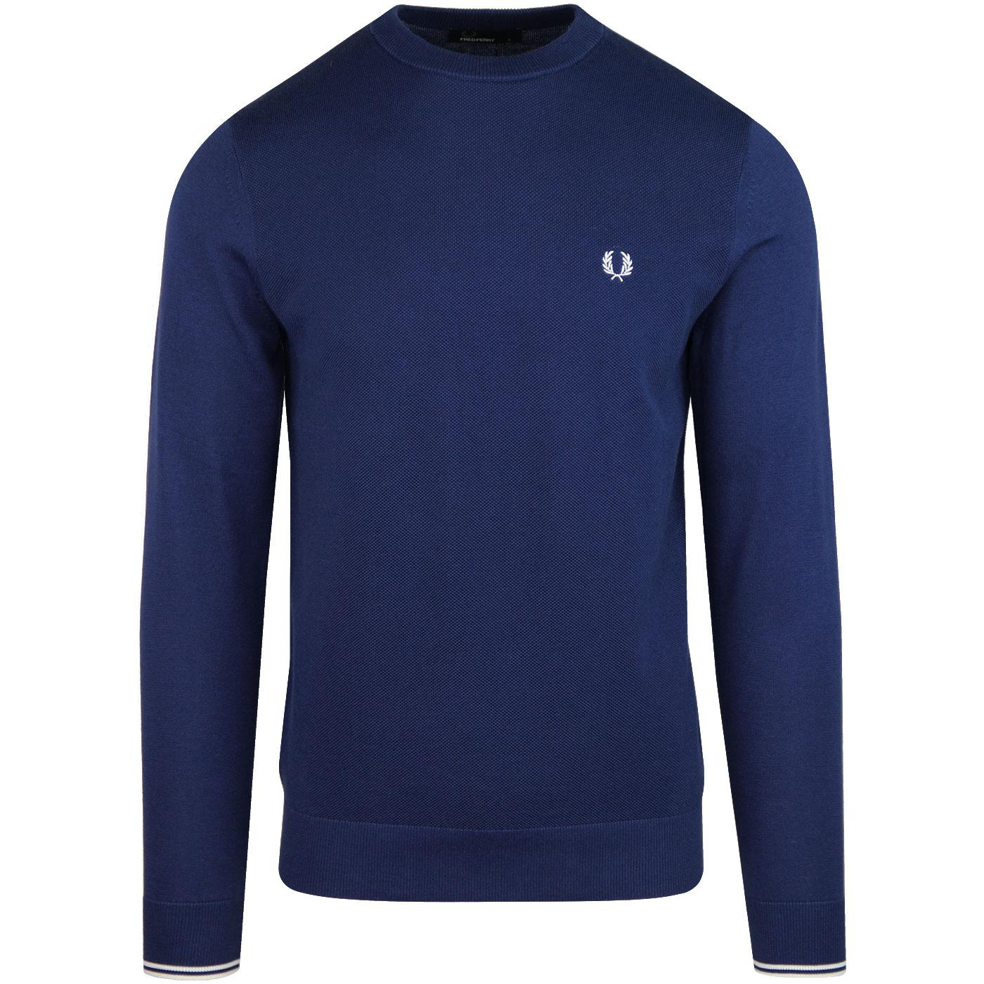 FRED PERRY Textured Pique Front Panel Jumper (MB)