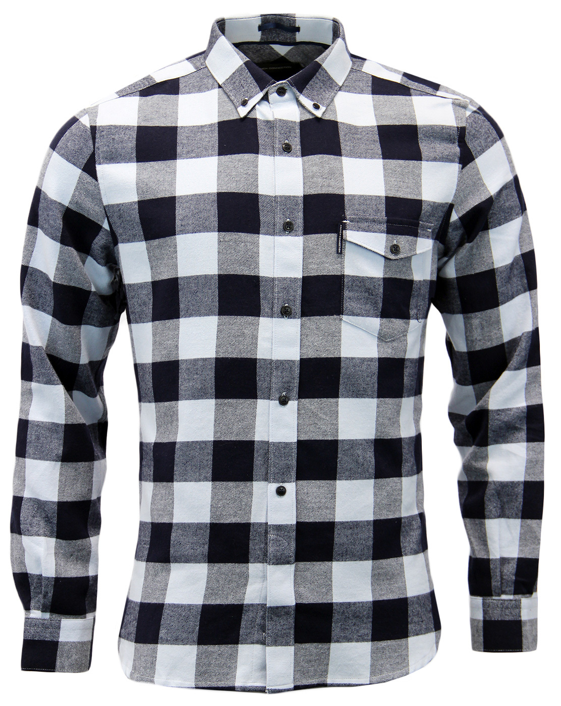 FRENCH CONNECTION Pop Flannel Check Retro Shirt