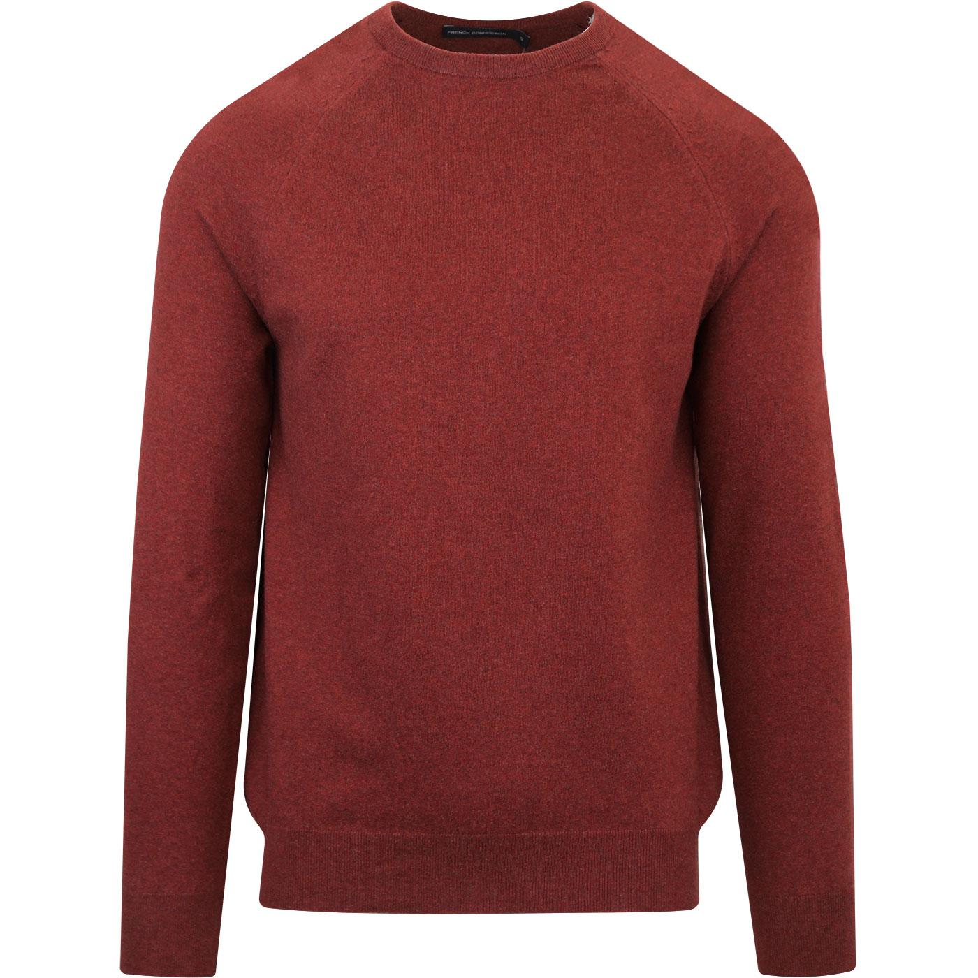 FRENCH CONNECTION Crew Neck Jumper Raspberry