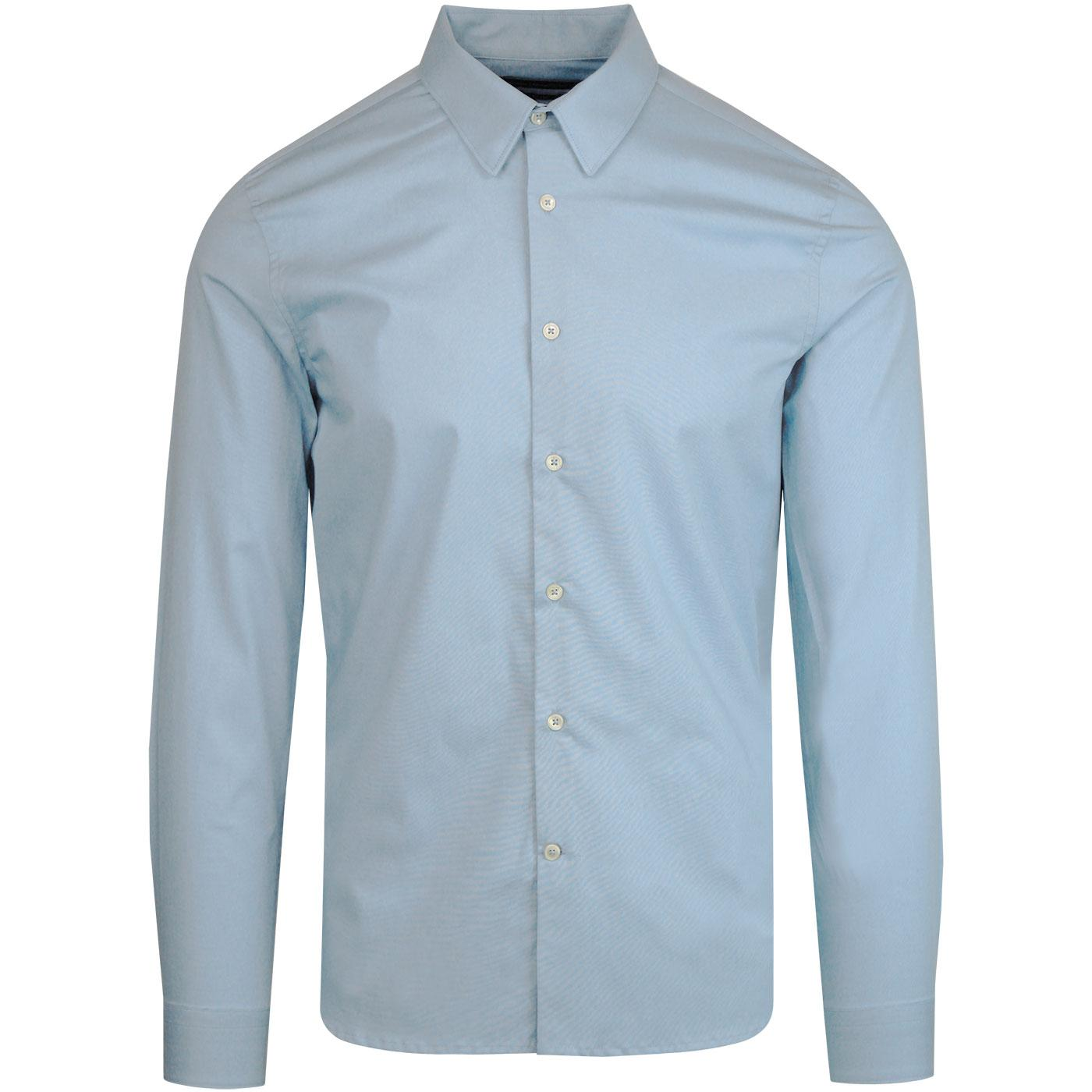 FRENCH CONNECTION Retro Stretch Poplin Shirt BLUE