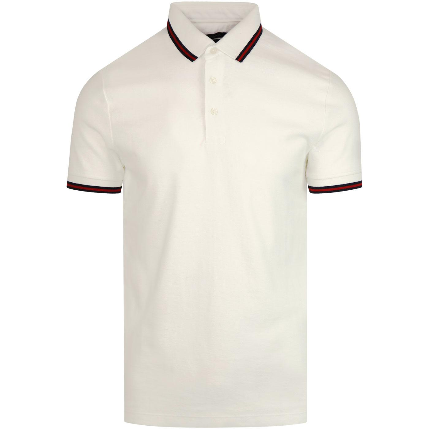 FRENCH CONNECTION Textured Dobby Polo MILK