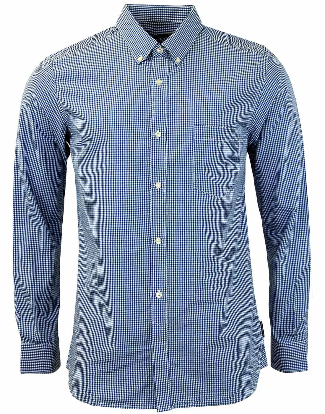 FRENCH CONNECTION Retro Mod 60s Gingham Shirt