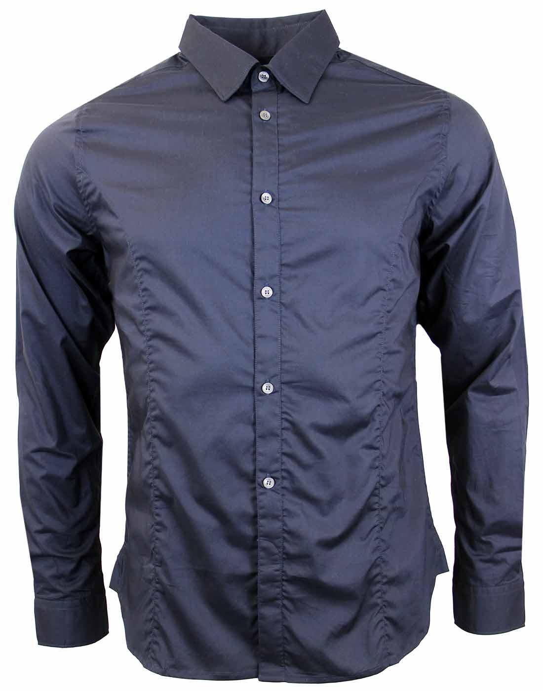 FRENCH CONNECTION Fitted Poplin Point Collar Shirt
