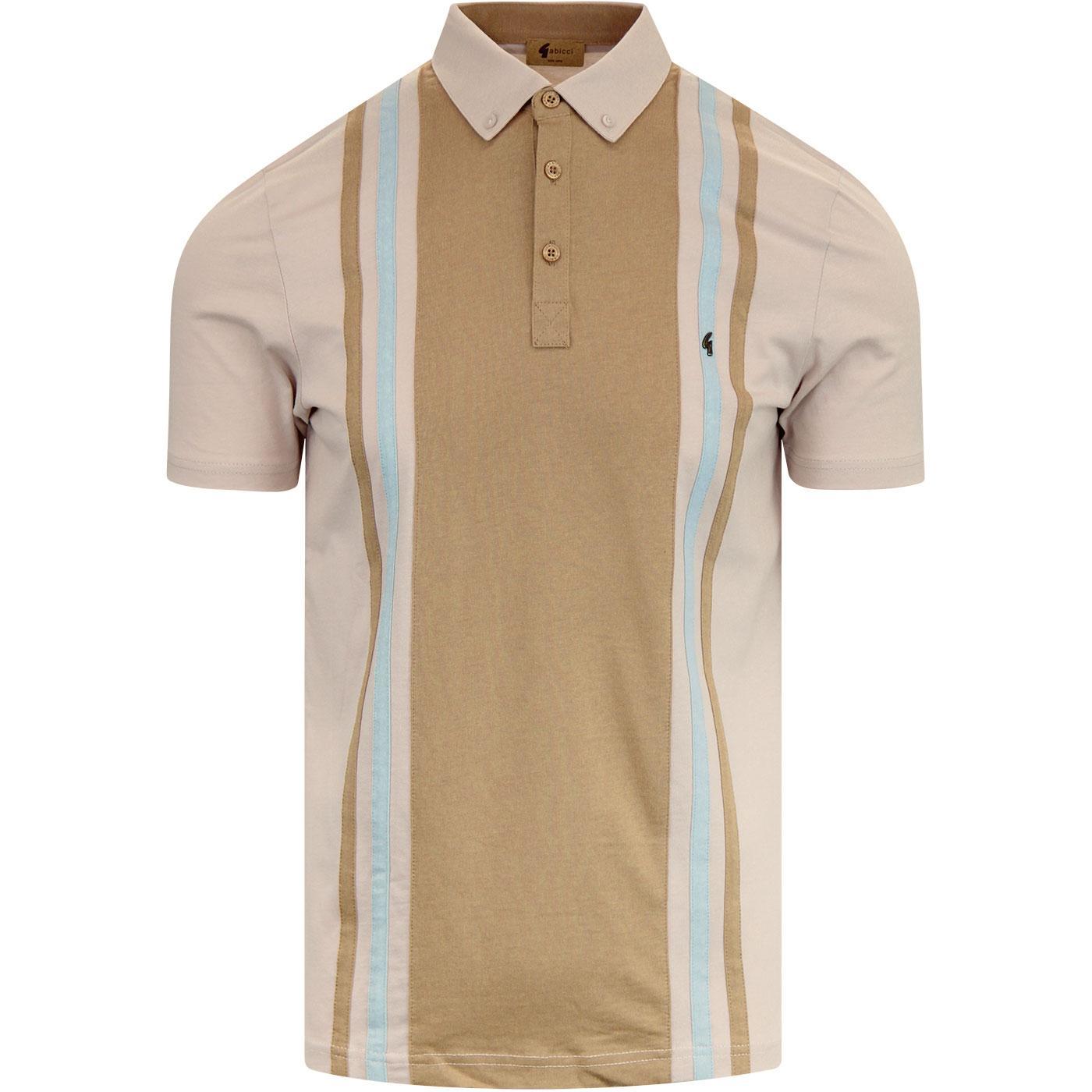 Briar GABICCI VINTAGE Mod Stripe Panel Jersey Polo