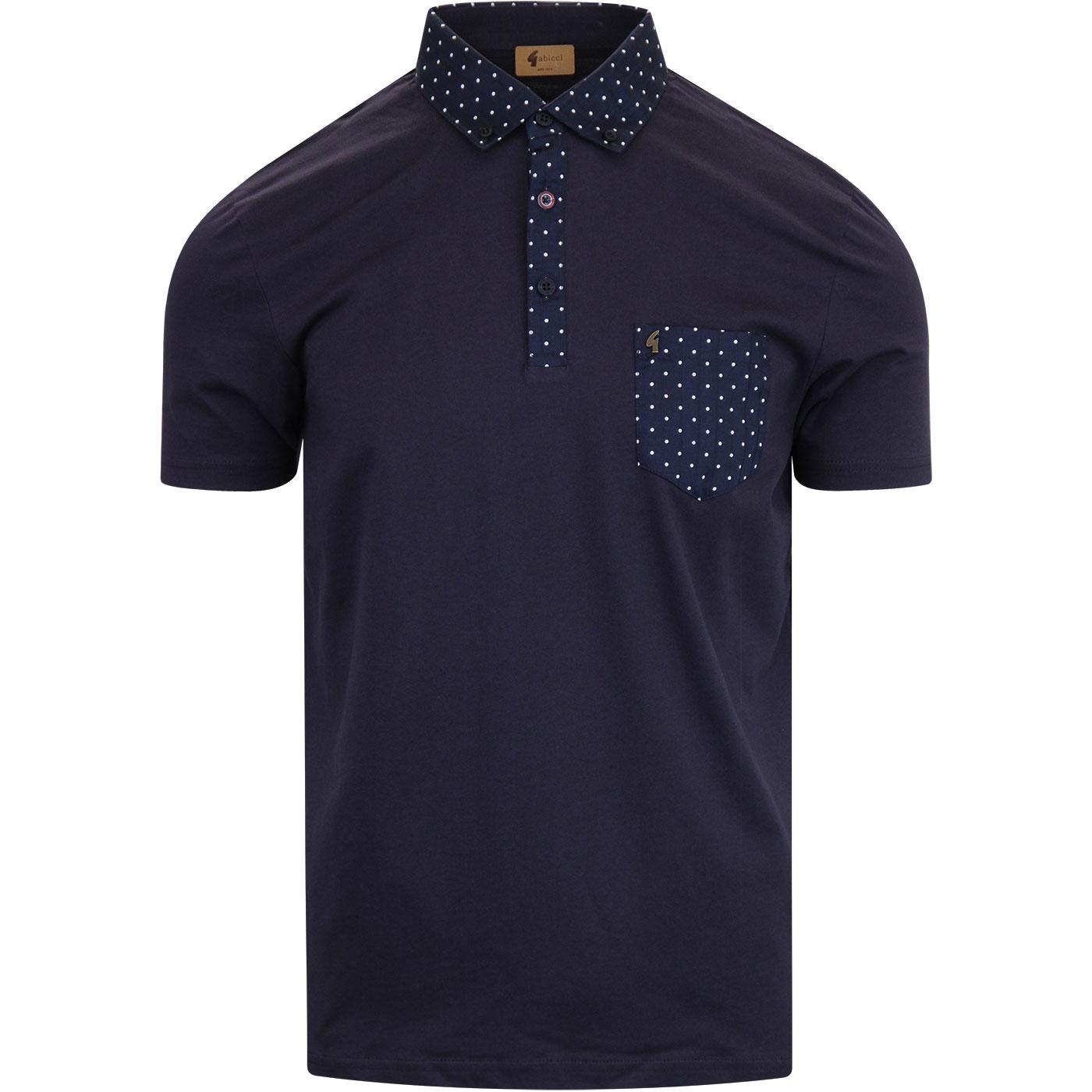 Kemble GABICCI VINTAGE Mod Polka Dot Polo Top (N)