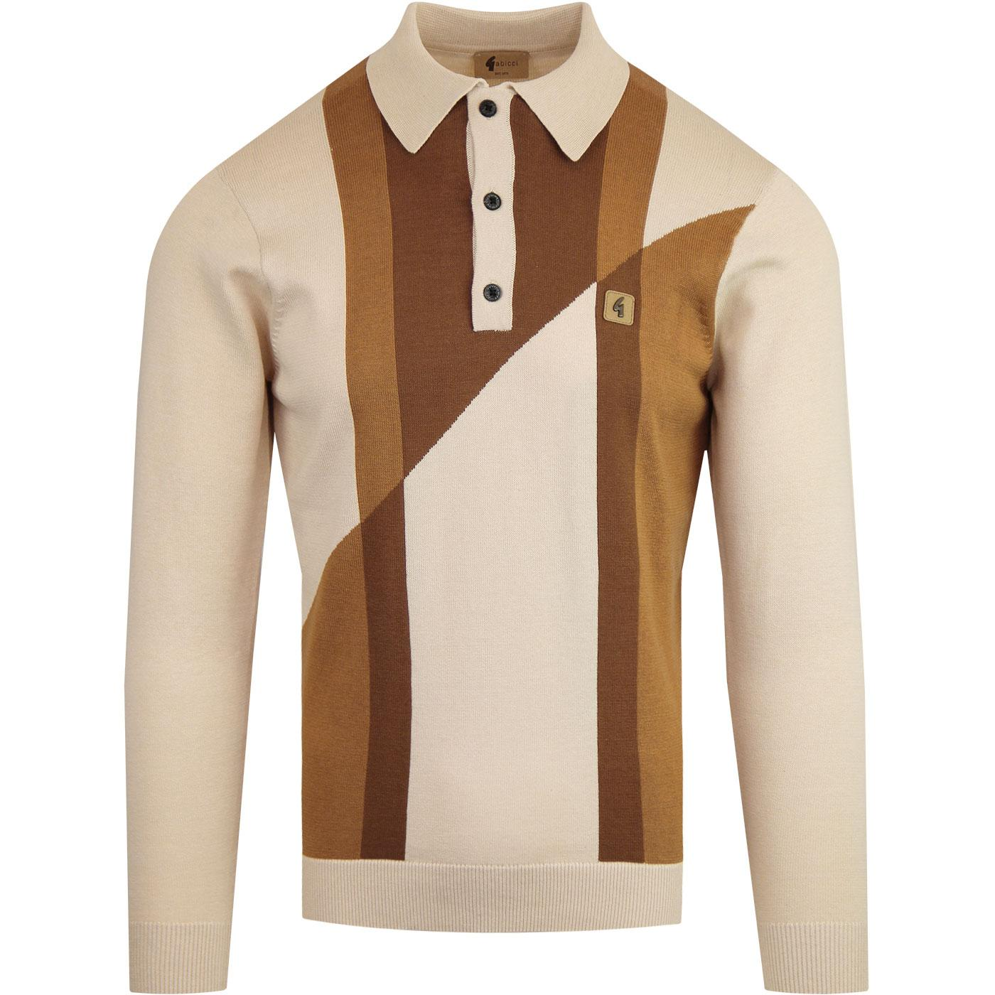 Texas GABICCI VINTAGE Mod Abstract Knit Polo (Oat)