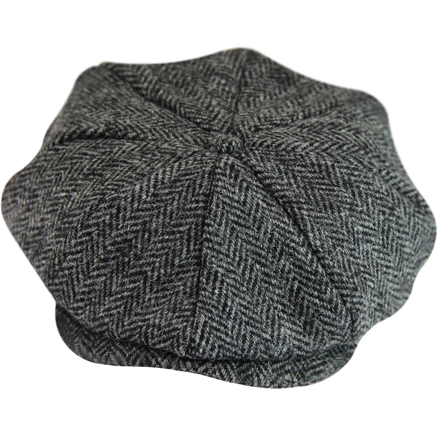 GIBSON LONDON Retro Herringbone Tweed Gatsby Hat B