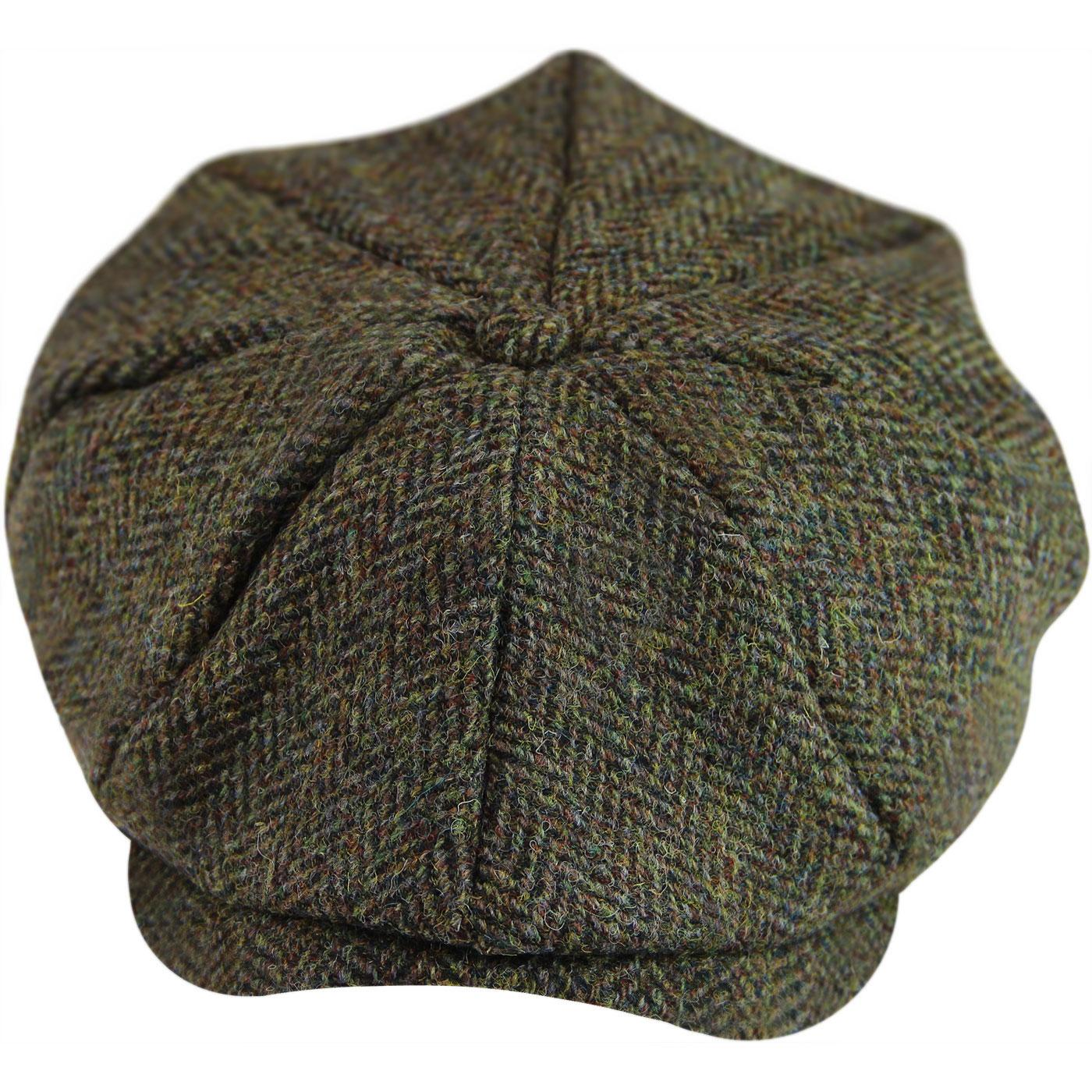 GIBSON LONDON Retro Herringbone Tweed Gatsby Hat G