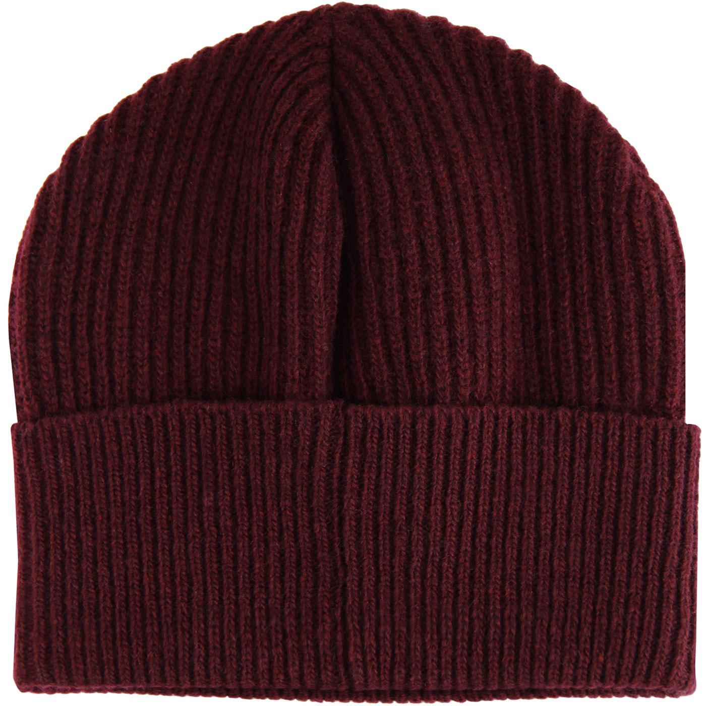 GLOVERALL Retro Knitted Lambswool Fisherman Hat