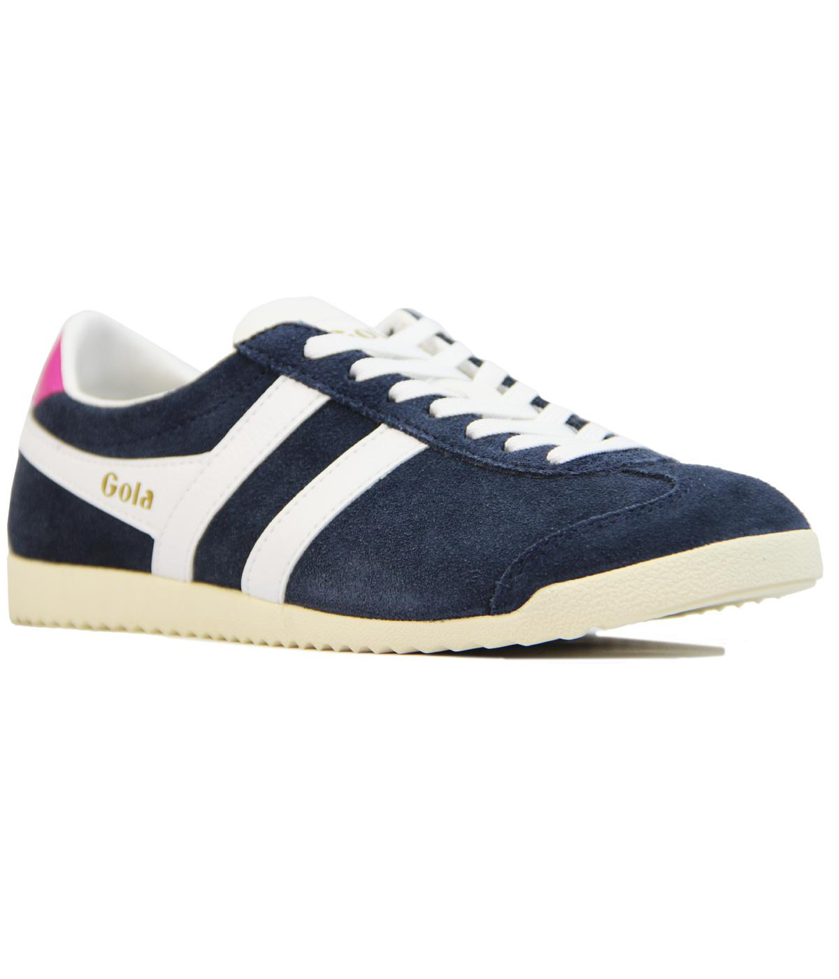 competitive price 2119b dd336 GOLA Bullet Womens Retro Suede Trainers NAVY