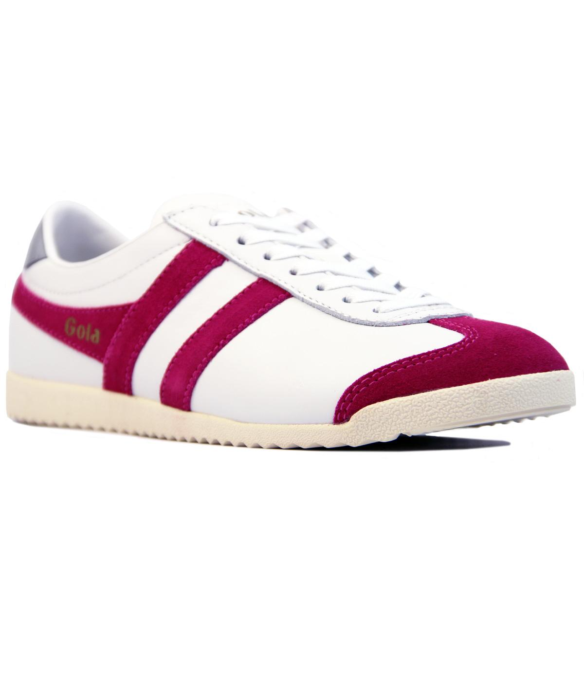 GOLA Bullet Womens Retro Leather Trainers WHITE